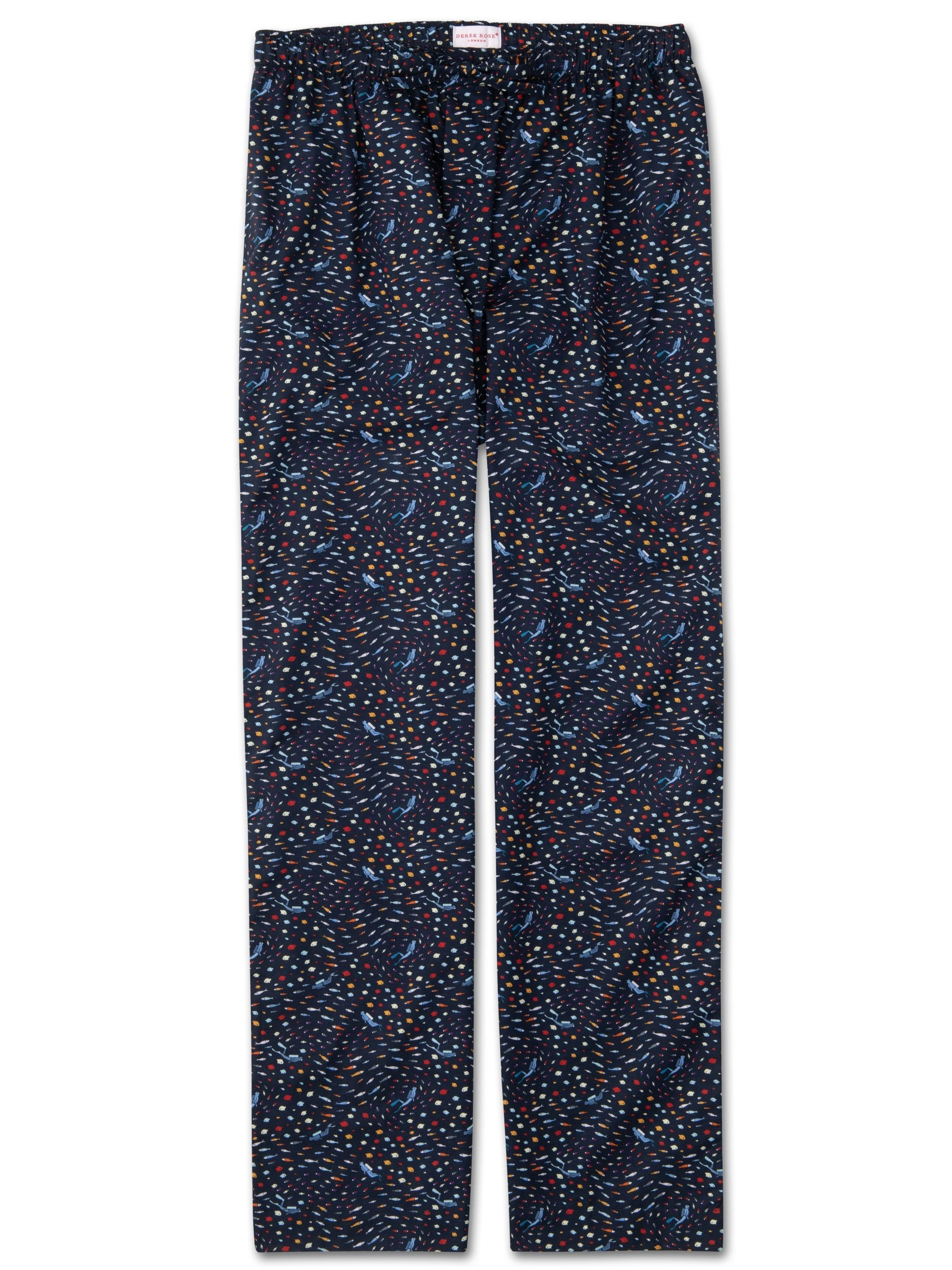 Men's Lounge Trousers Ledbury 29 Cotton Batiste Navy