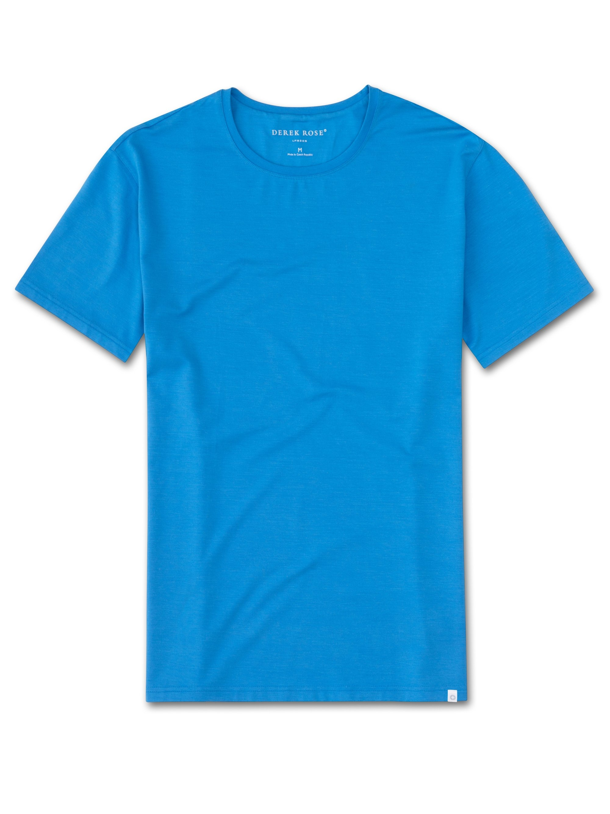 Men 39 s luxury micro modal t shirt light blue derek rose for Modal t shirts mens
