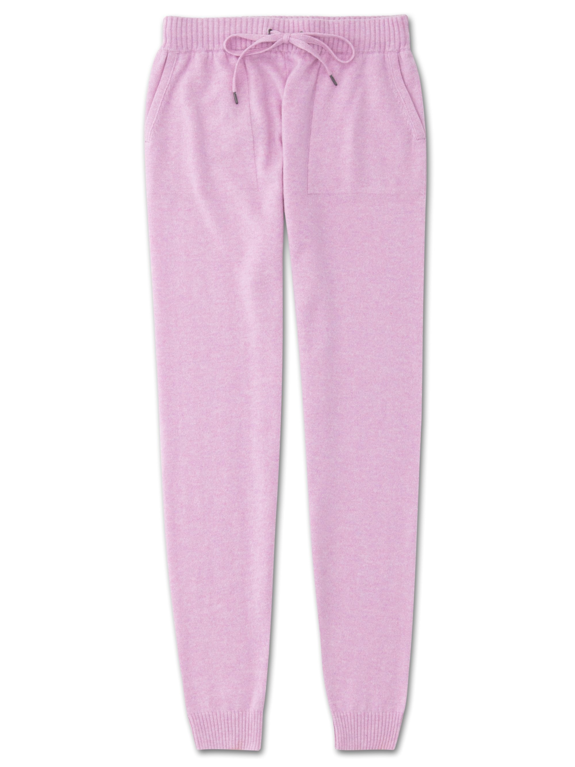 Women's Cashmere Track Pants Finley Pure Cashmere Lilac