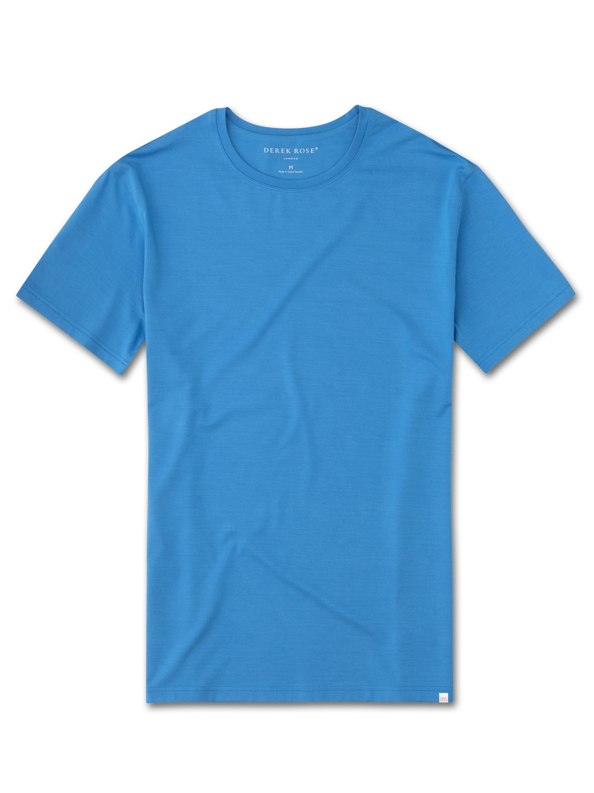 Men's Short Sleeve T-Shirt Basel 4 Micro Modal Stretch Blue