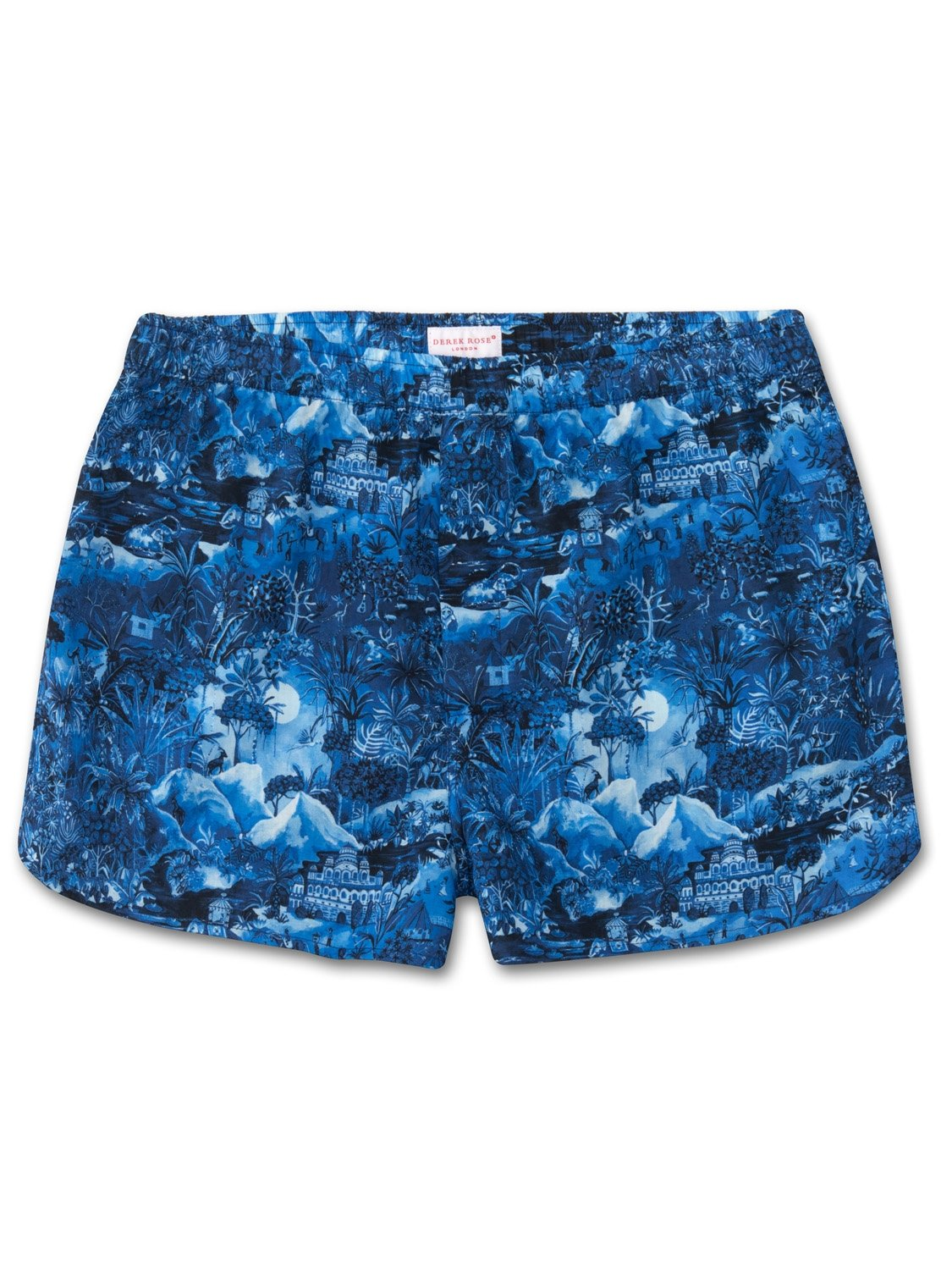 Men's Modern Fit Boxer Shorts Ledbury 10 Cotton Batiste Blue