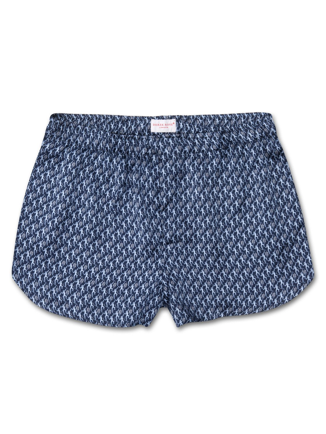Men's Modern Fit Boxer Shorts Brindisi 12 Pure Silk Satin Navy
