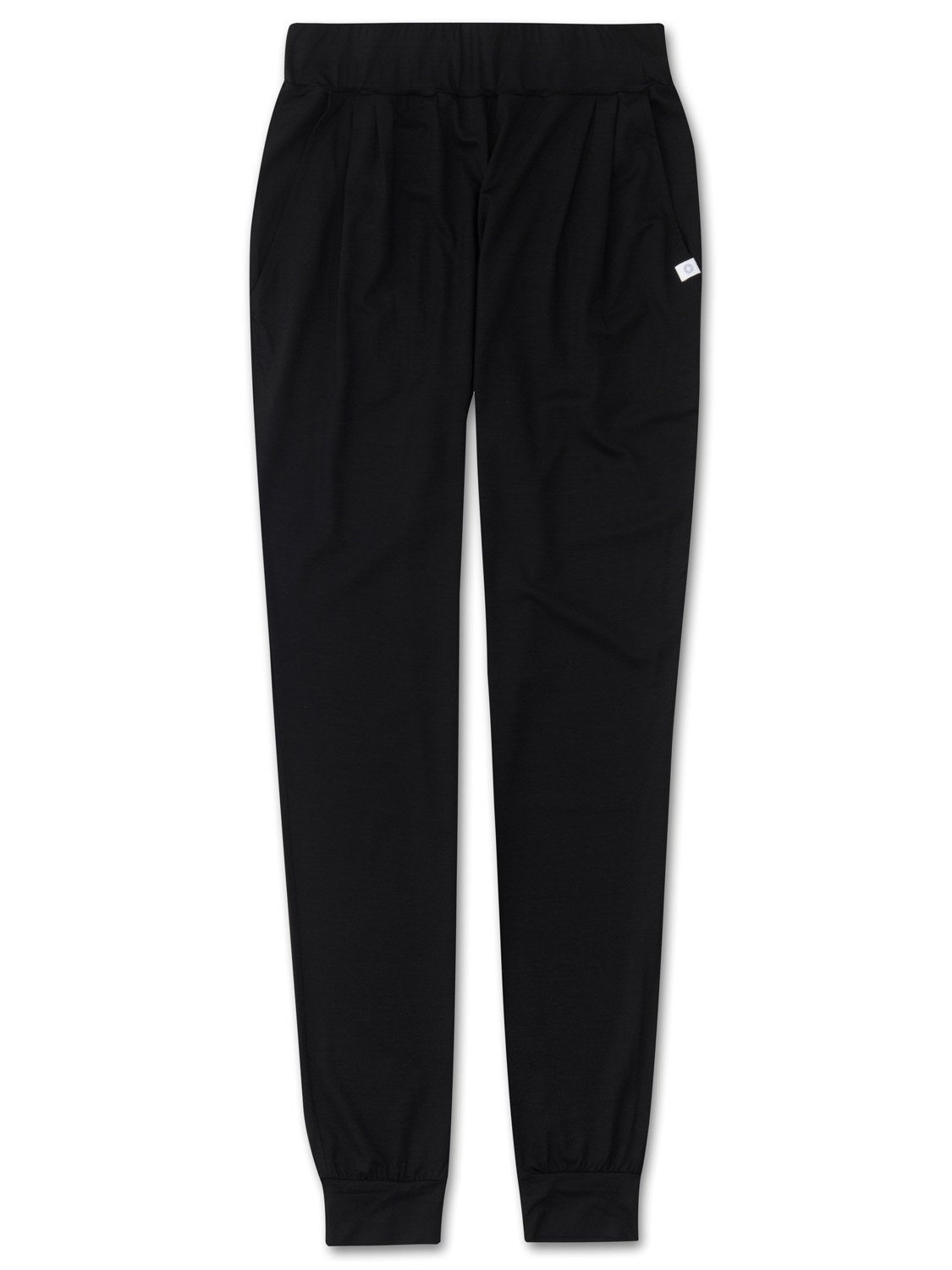 Women's Jersey Leisure Pants Basel Micro Modal Stretch Black