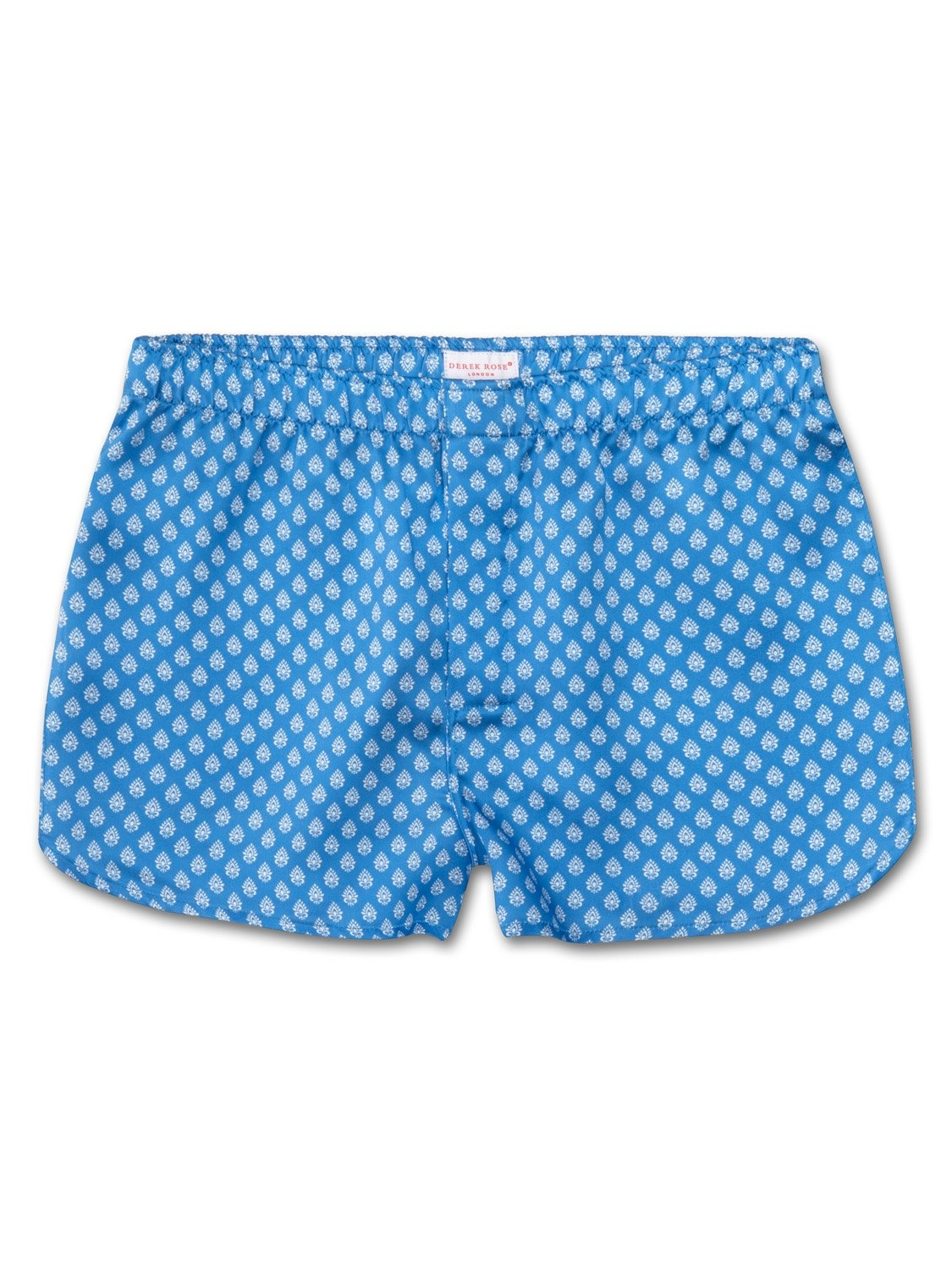 Men's Modern Fit Boxer Shorts Brindisi 20 Pure Silk Satin Blue