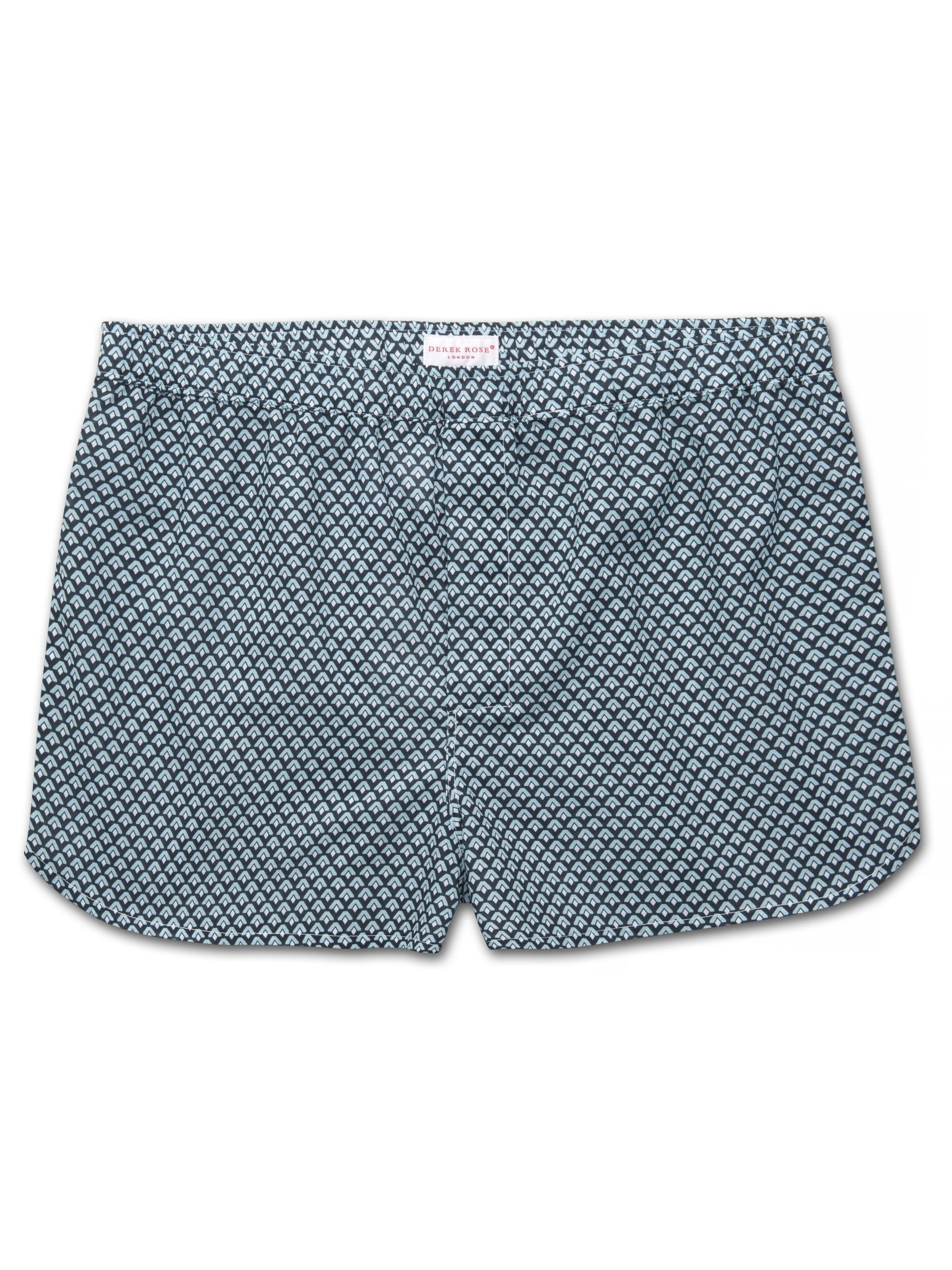 Men's Modern Fit Boxer Shorts Ledbury 31 Cotton Batiste Navy