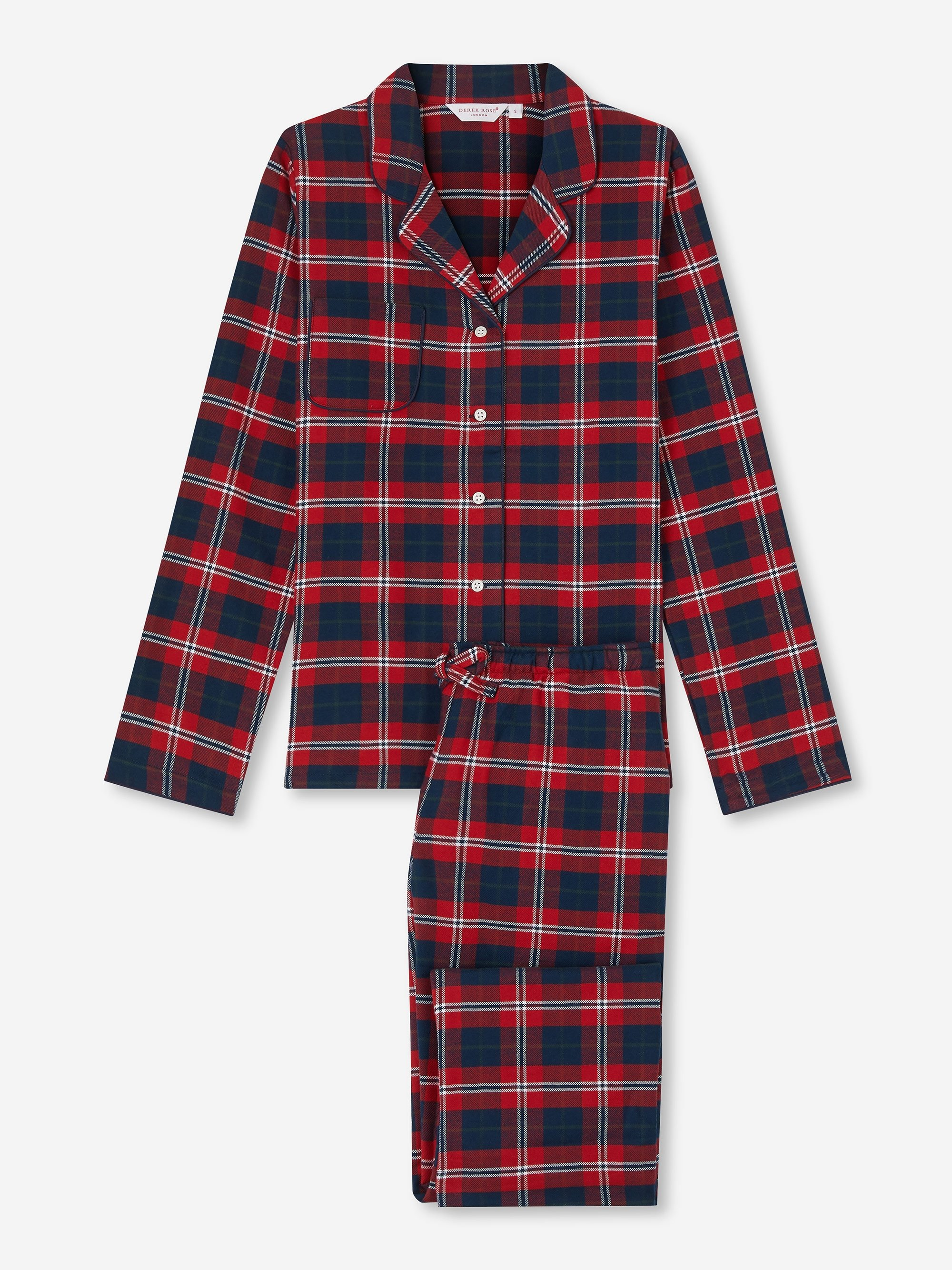 Women's Pyjamas Kelburn 16 Brushed Cotton Check Red