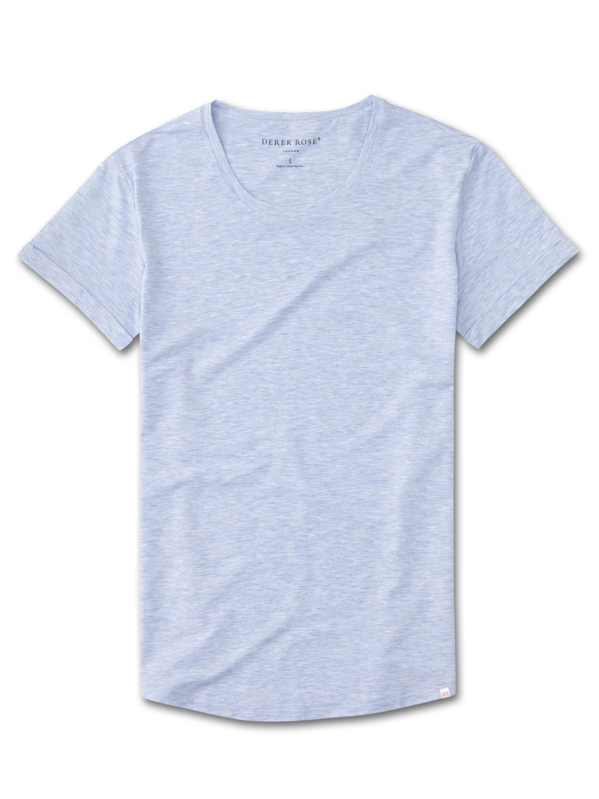 Women's Leisure T-Shirt Ethan Micro Modal Stretch Blue