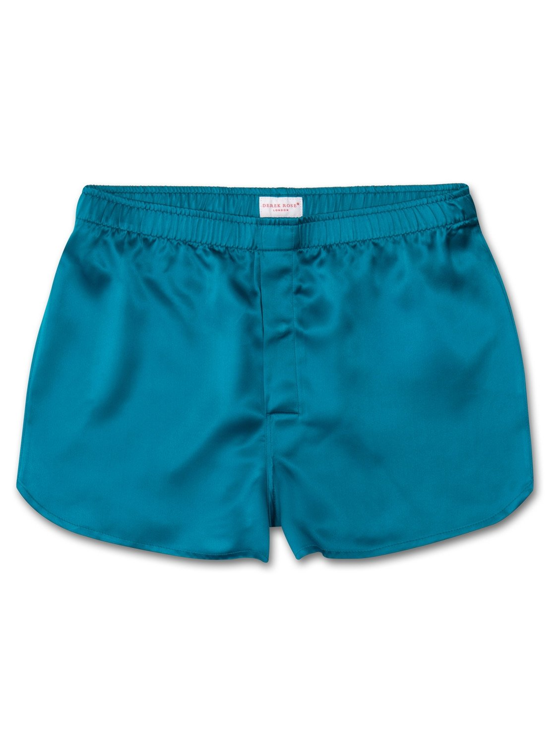 Men's Modern Fit Boxer Shorts Bailey Pure Silk Satin Teal