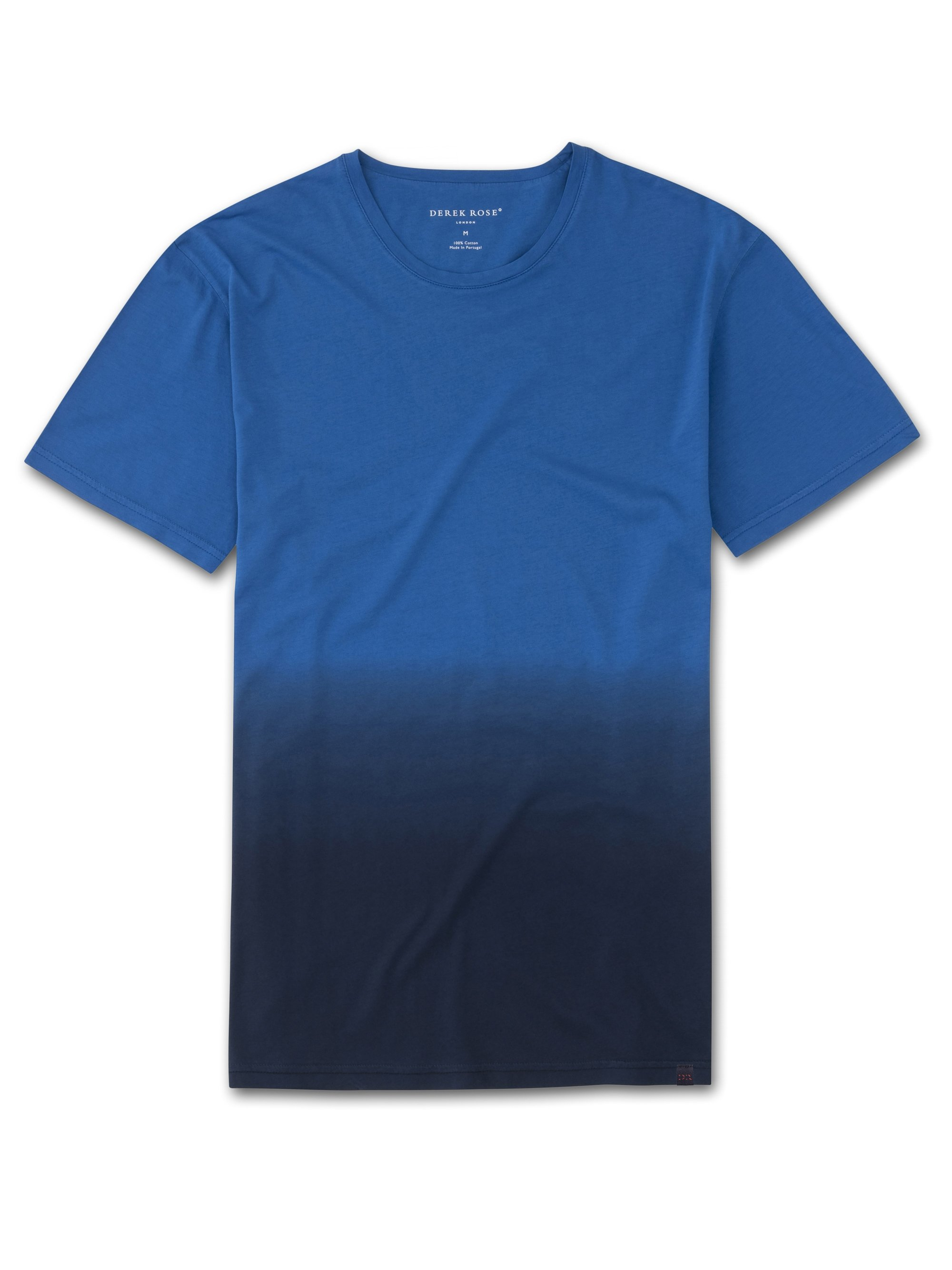 Men's Short Sleeve T-Shirt Rufus Pima Cotton Blue