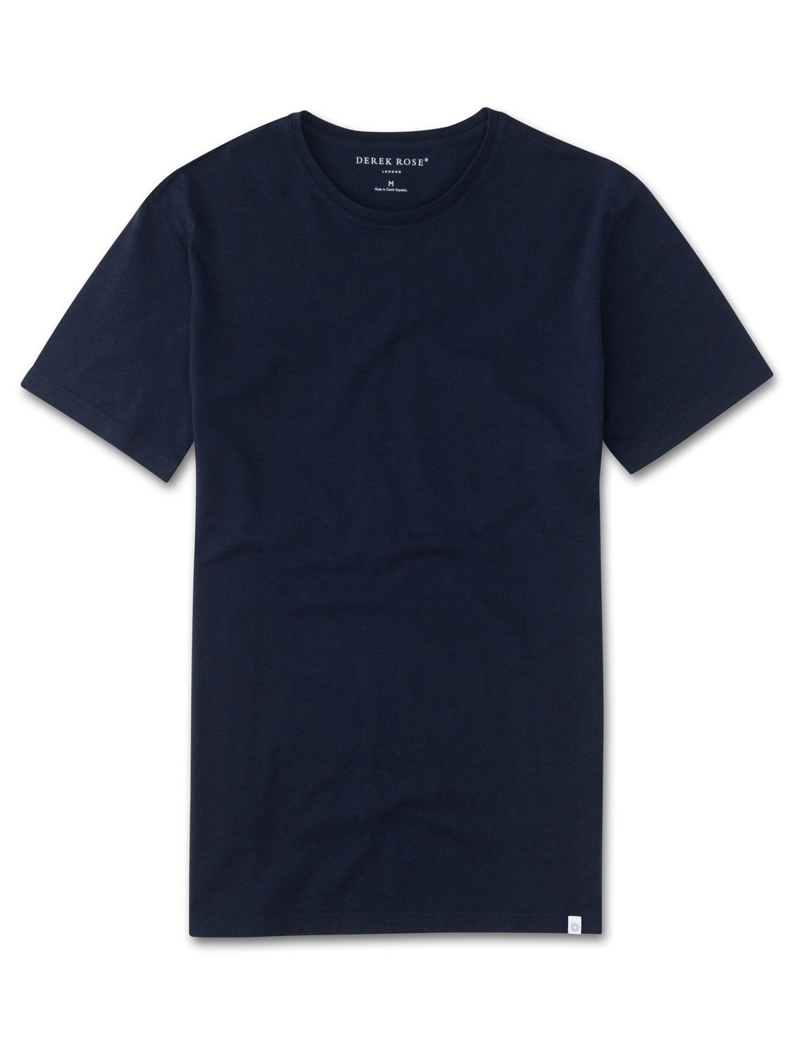 Men's Short Sleeve T-Shirt Turner Carbon-Brushed Cotton Navy