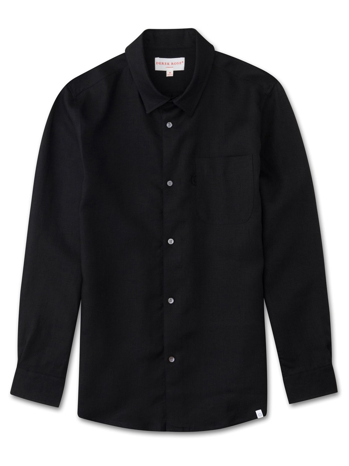 Men's Linen Shirt Monaco Pure Linen Black