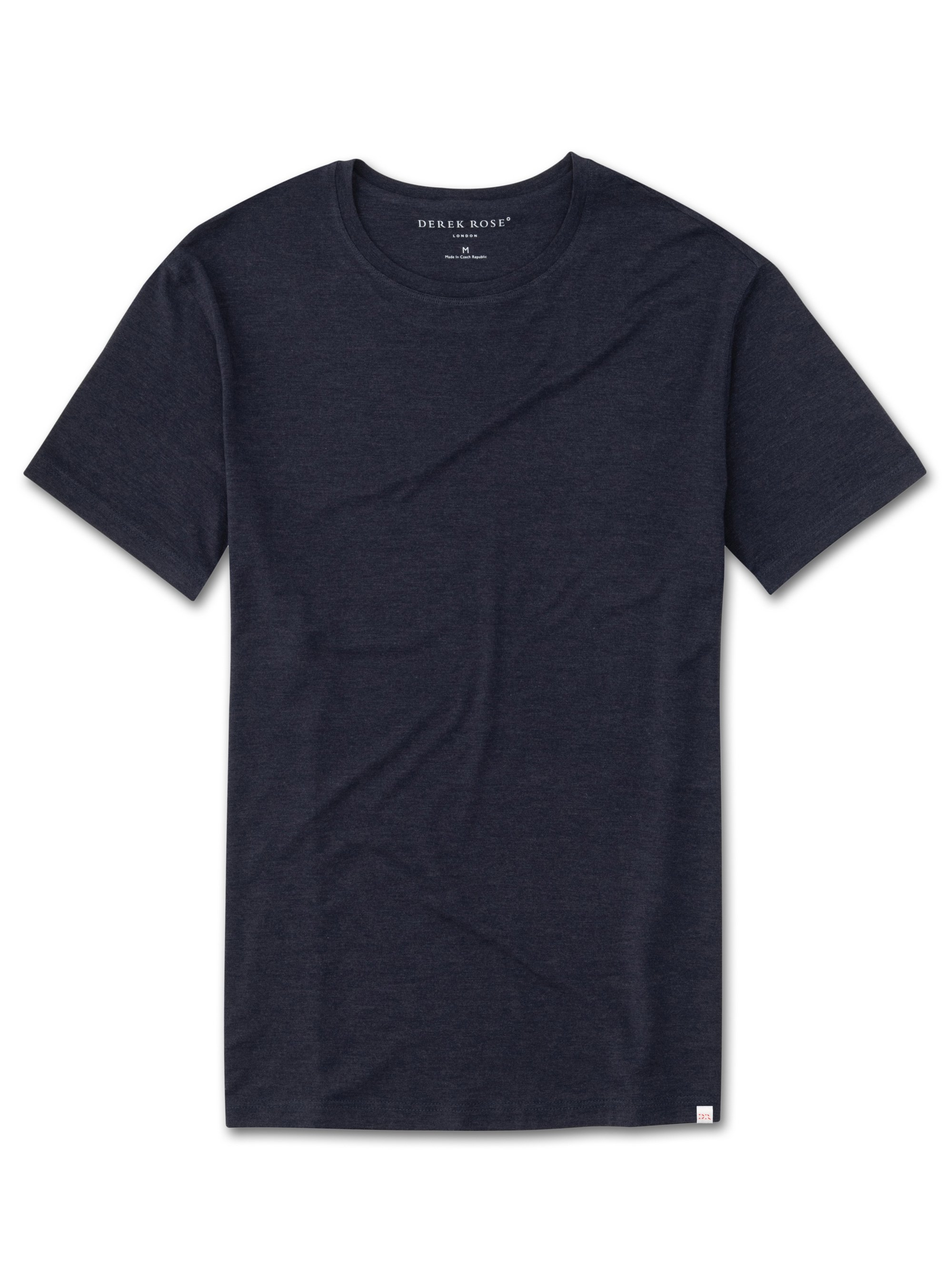 Men's Short Sleeve T-Shirt Marlowe Micro Modal Stretch Navy