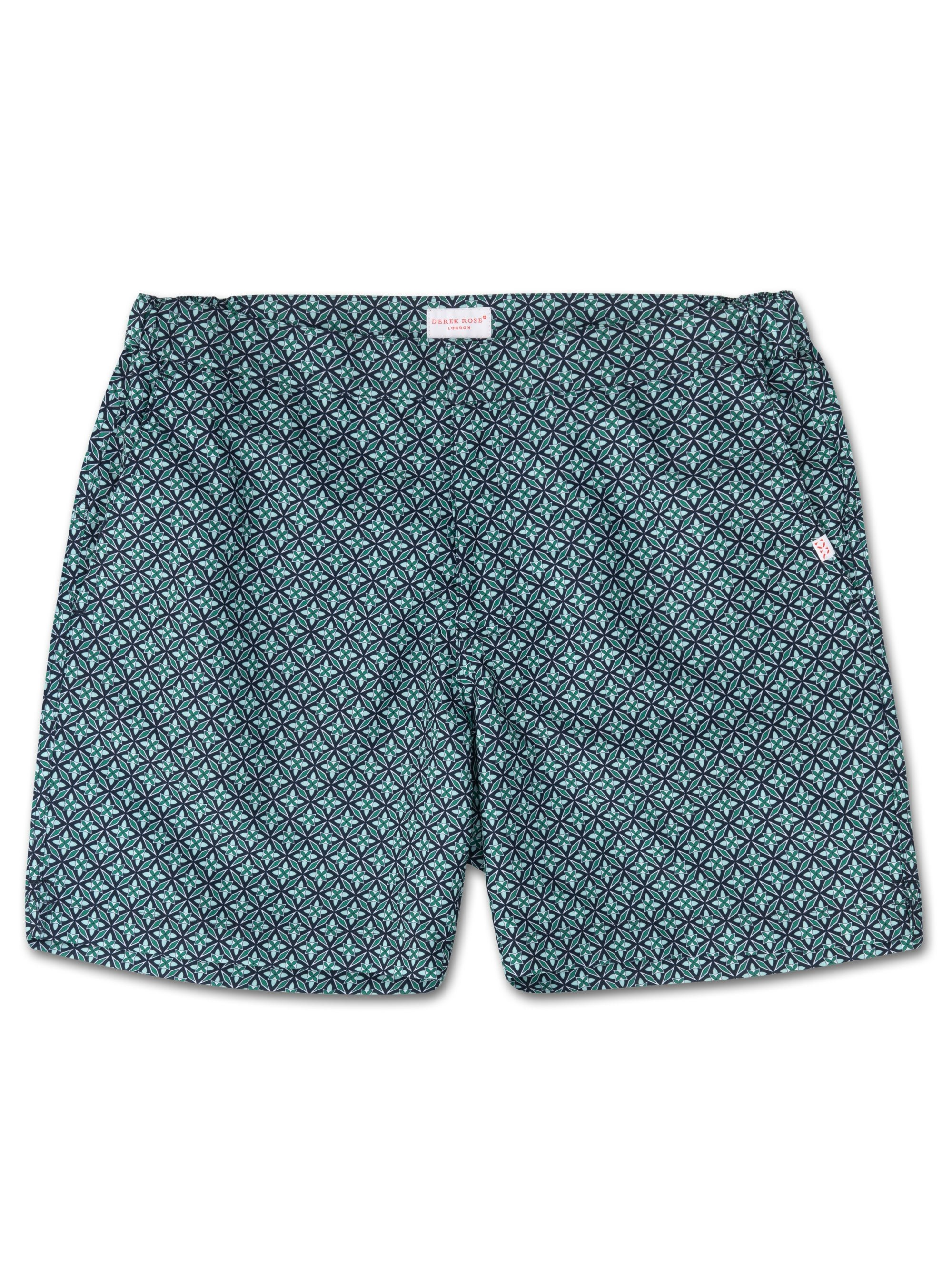 Men's Modern Fit Swim Shorts Tropez 4 Green