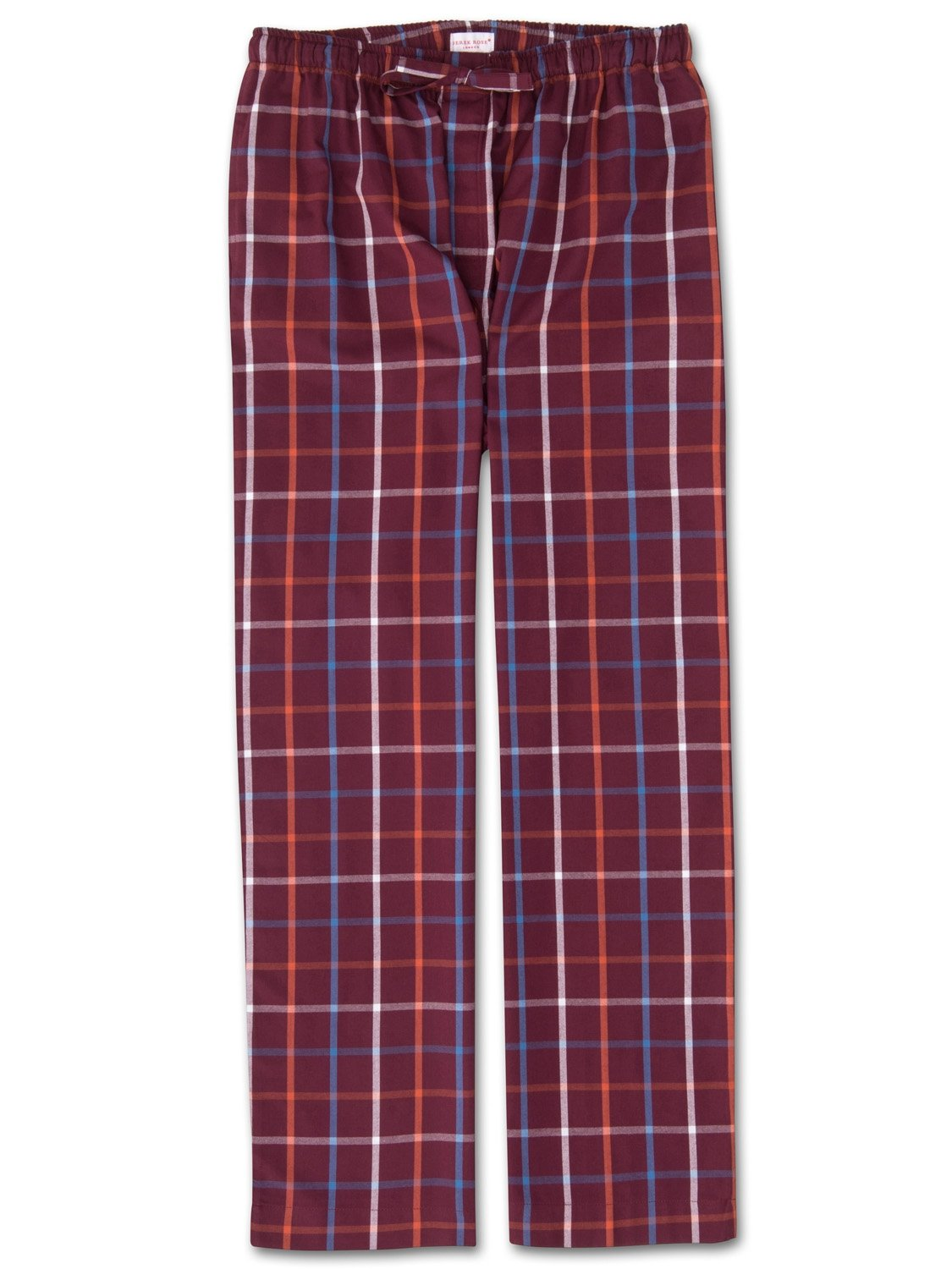 Men's Lounge Trousers Ranga 33 Brushed Cotton Check Multi
