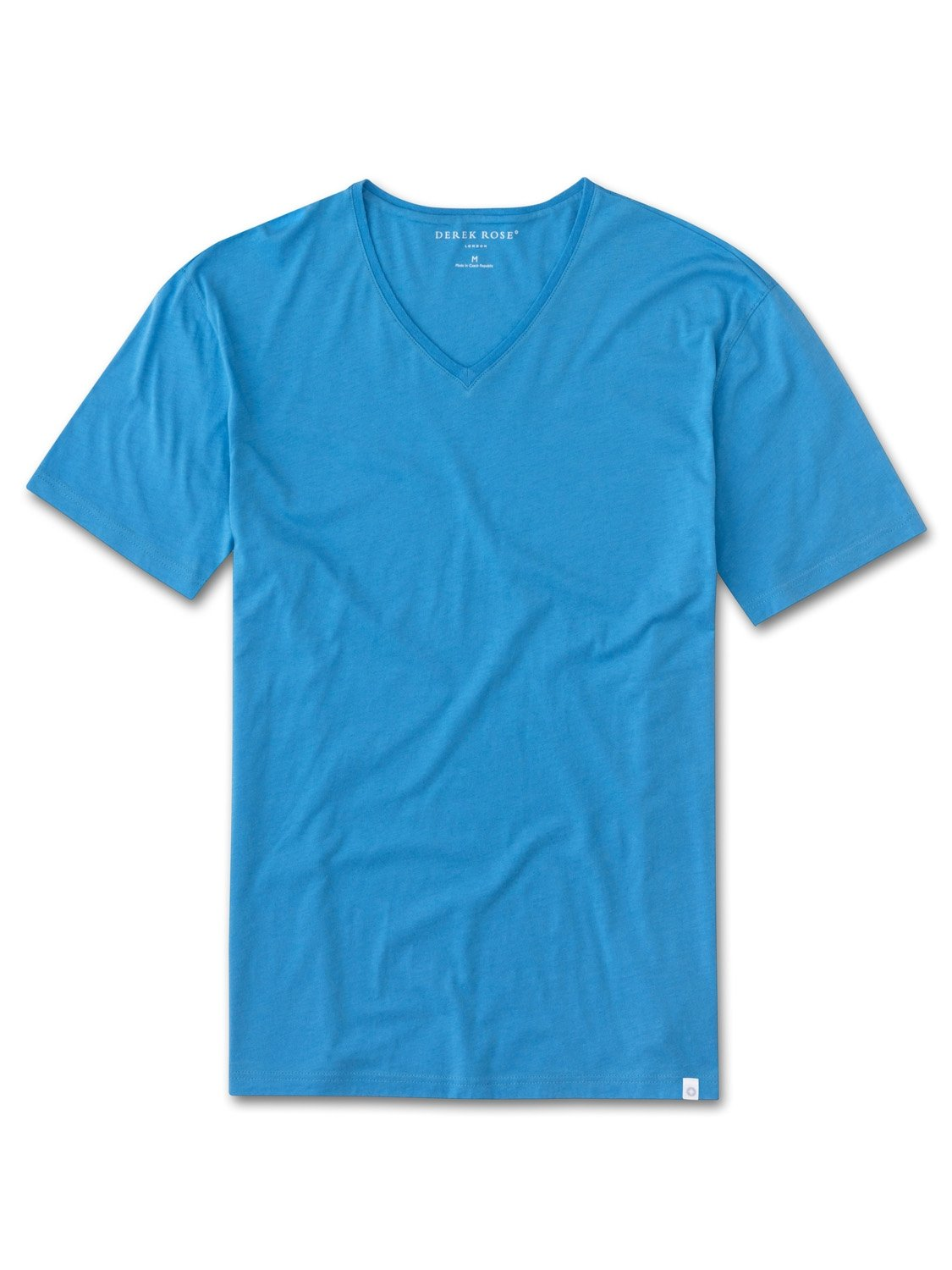 Men's Short Sleeve V-Neck T-Shirt Riley 2 Pima Cotton Blue