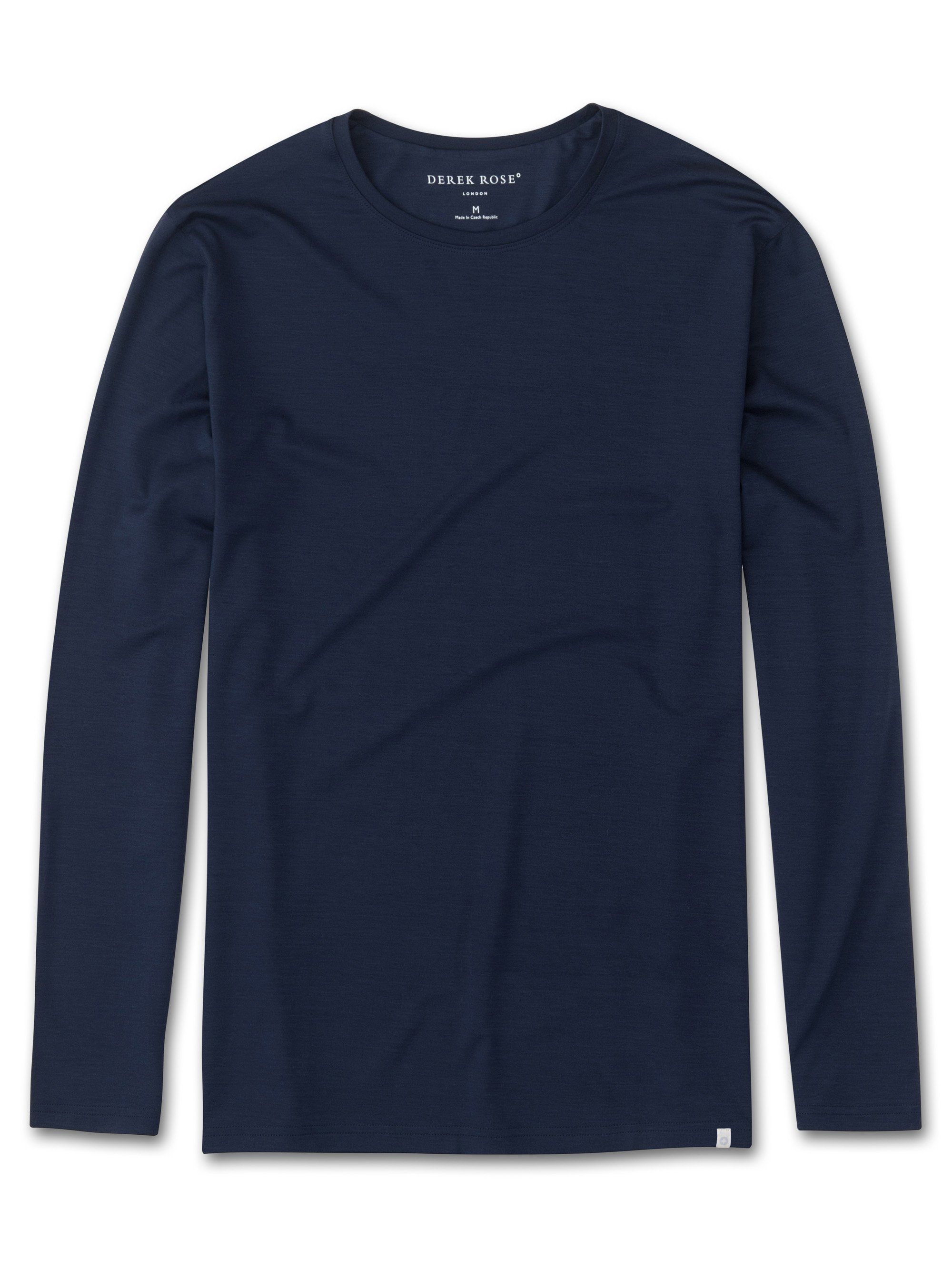 Men's Long Sleeve T-Shirt Basel Micro Modal Stretch Navy