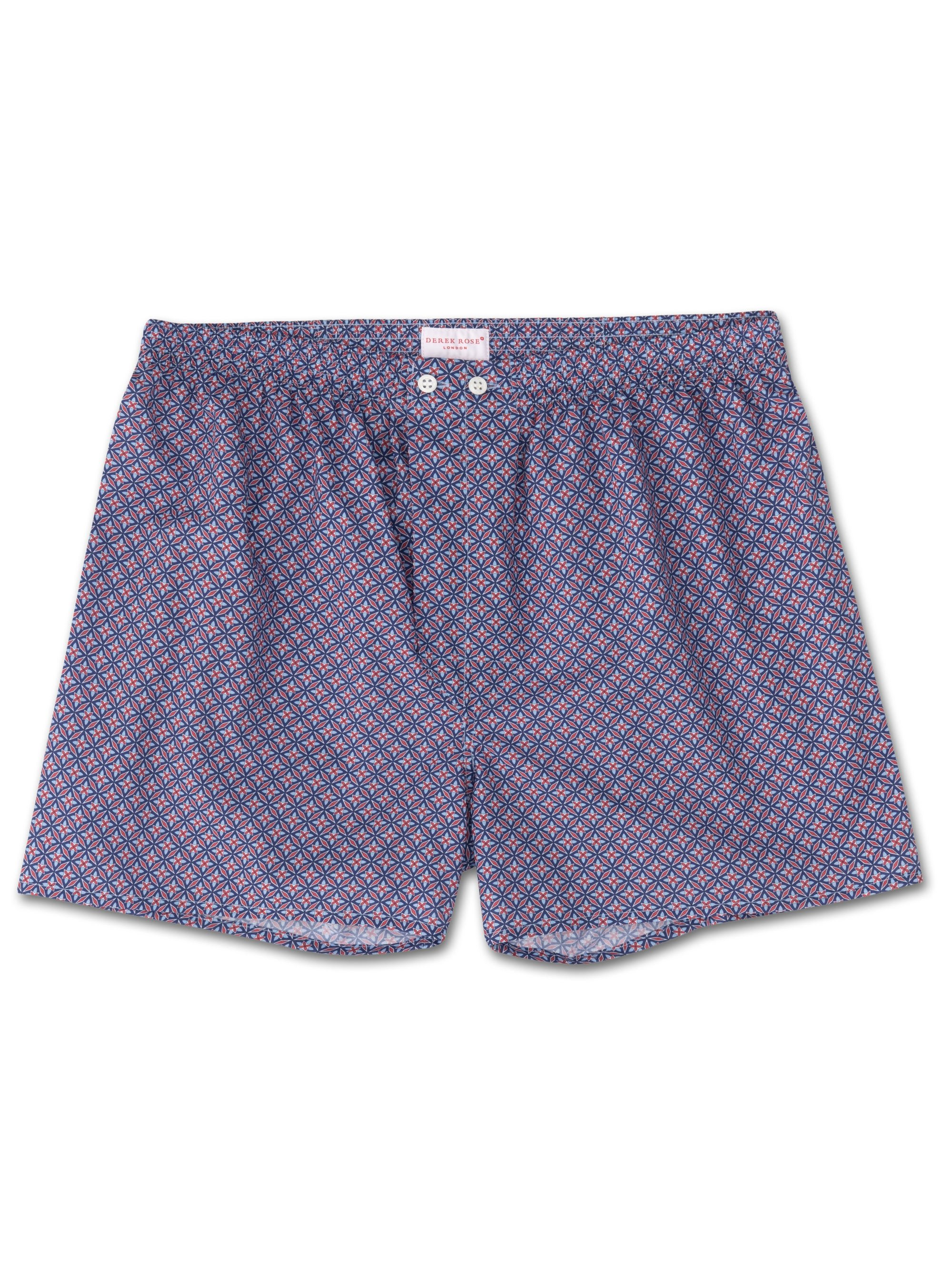 Men's Classic Fit Boxer Shorts Ledbury 21 Cotton Batiste Red