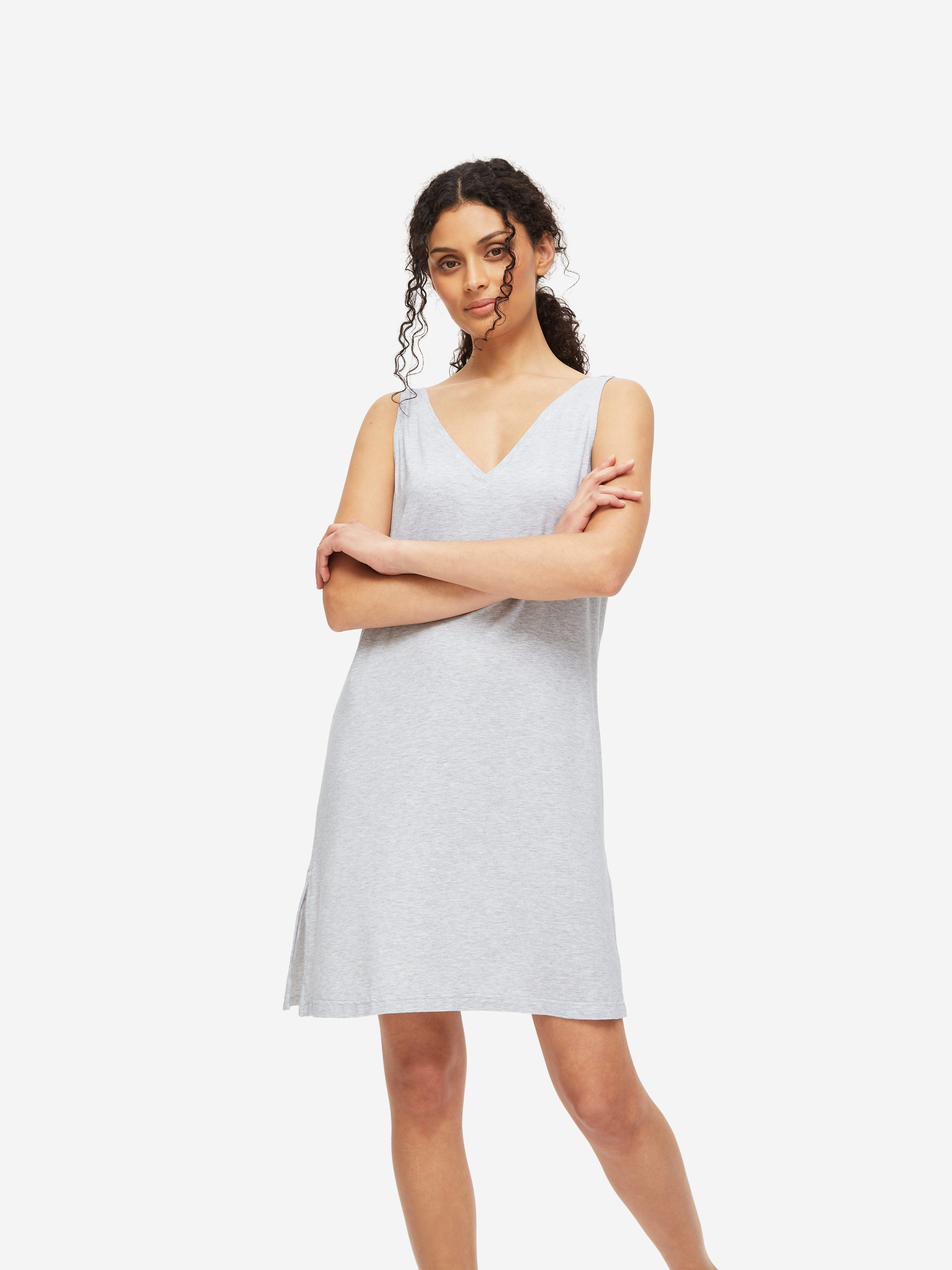 Women's Chemise Ethan Micro Modal Stretch Silver