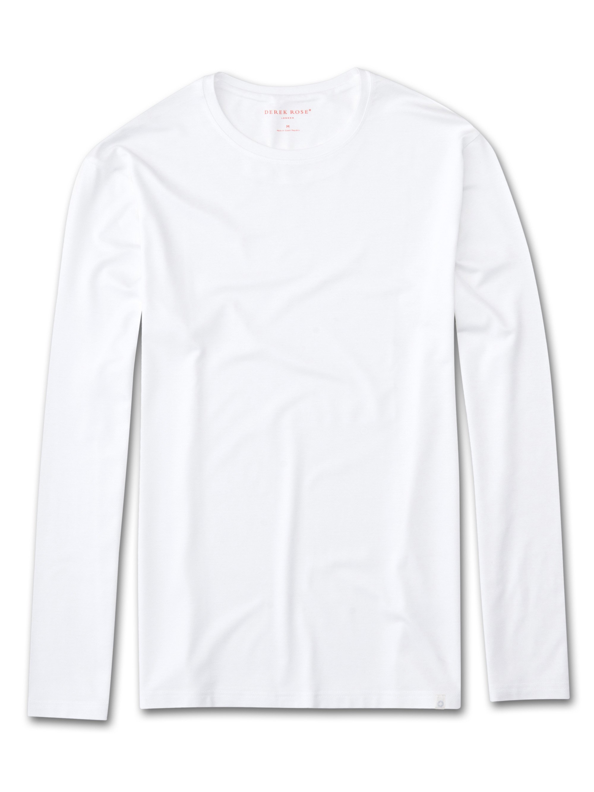Men's Long Sleeve T-Shirt Basel Micro Modal Stretch White