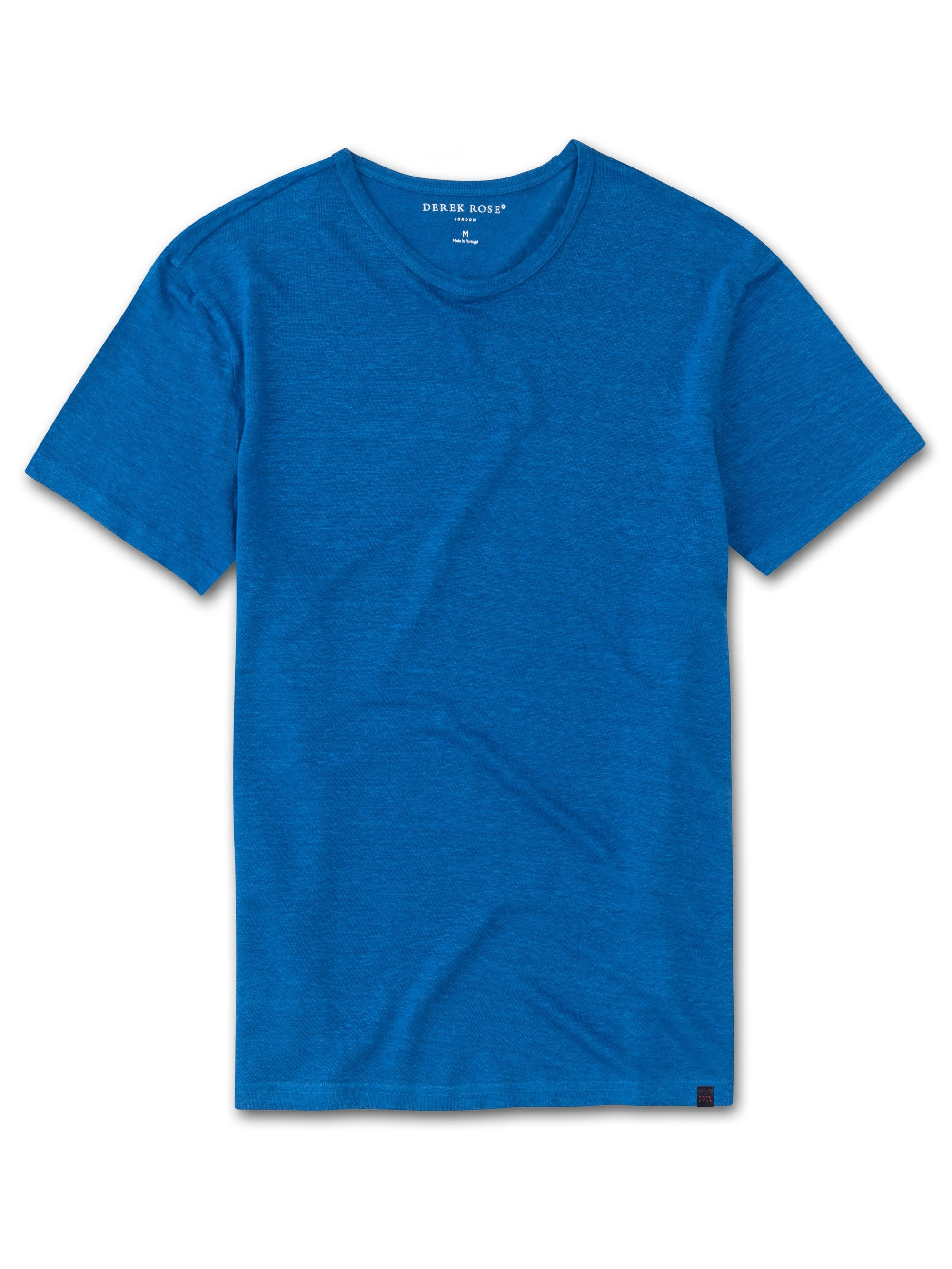 Men's Linen Short Sleeve T-Shirt Jordan Pure Linen Blue
