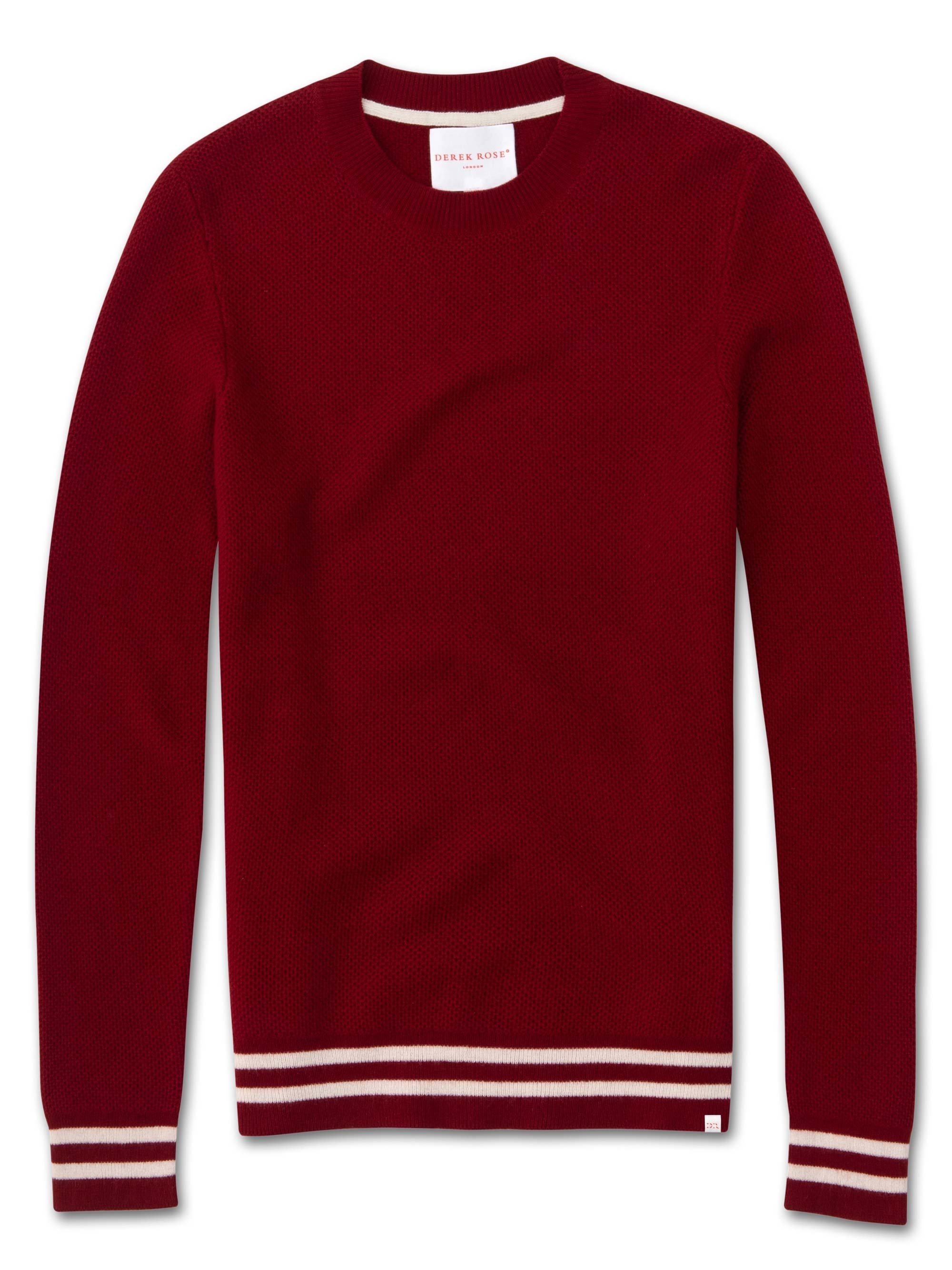 Men's Cashmere Sweater Felix 2 Pure Cashmere Red