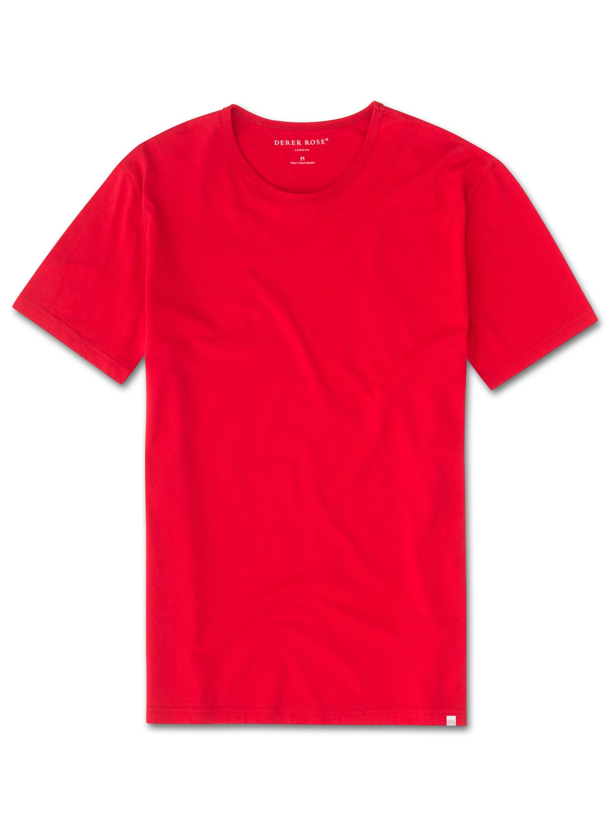 Men's Short Sleeve T-Shirt Riley 2 Pima Cotton Red