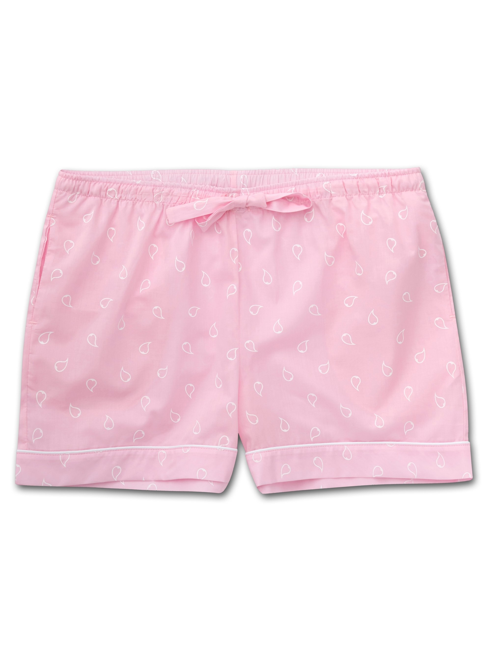 Women's Lounge Shorts Nelson 74 Cotton Batiste Pink