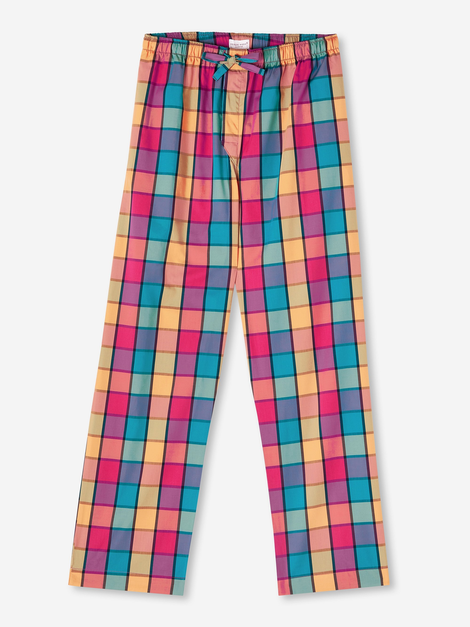 Men's Lounge Trousers Barker 30 Cotton Check Multi