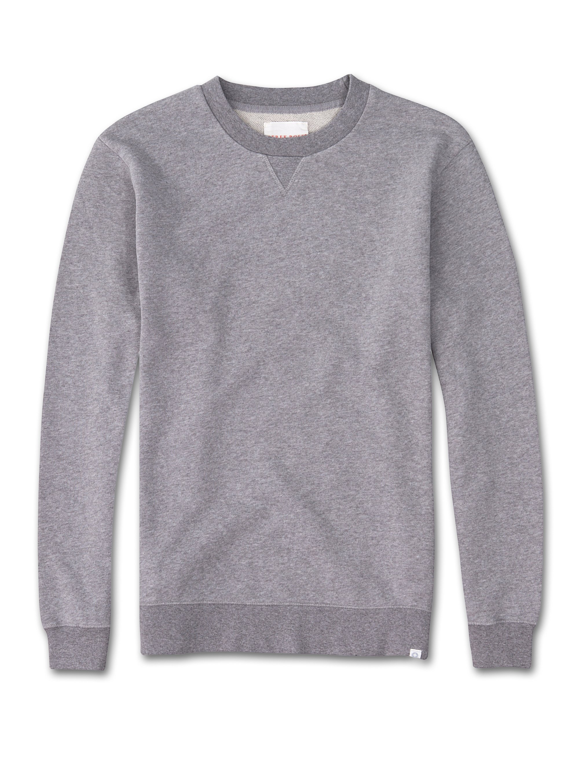 Men's Sweatshirt Devon Loopback Cotton Silver