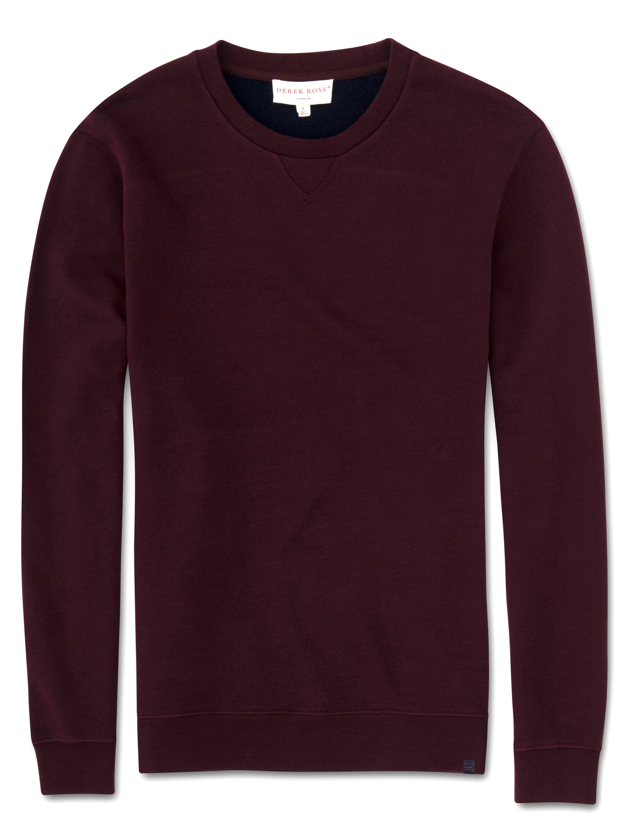 Men's Sweatshirt Devon 2 Loopback Cotton Burgundy