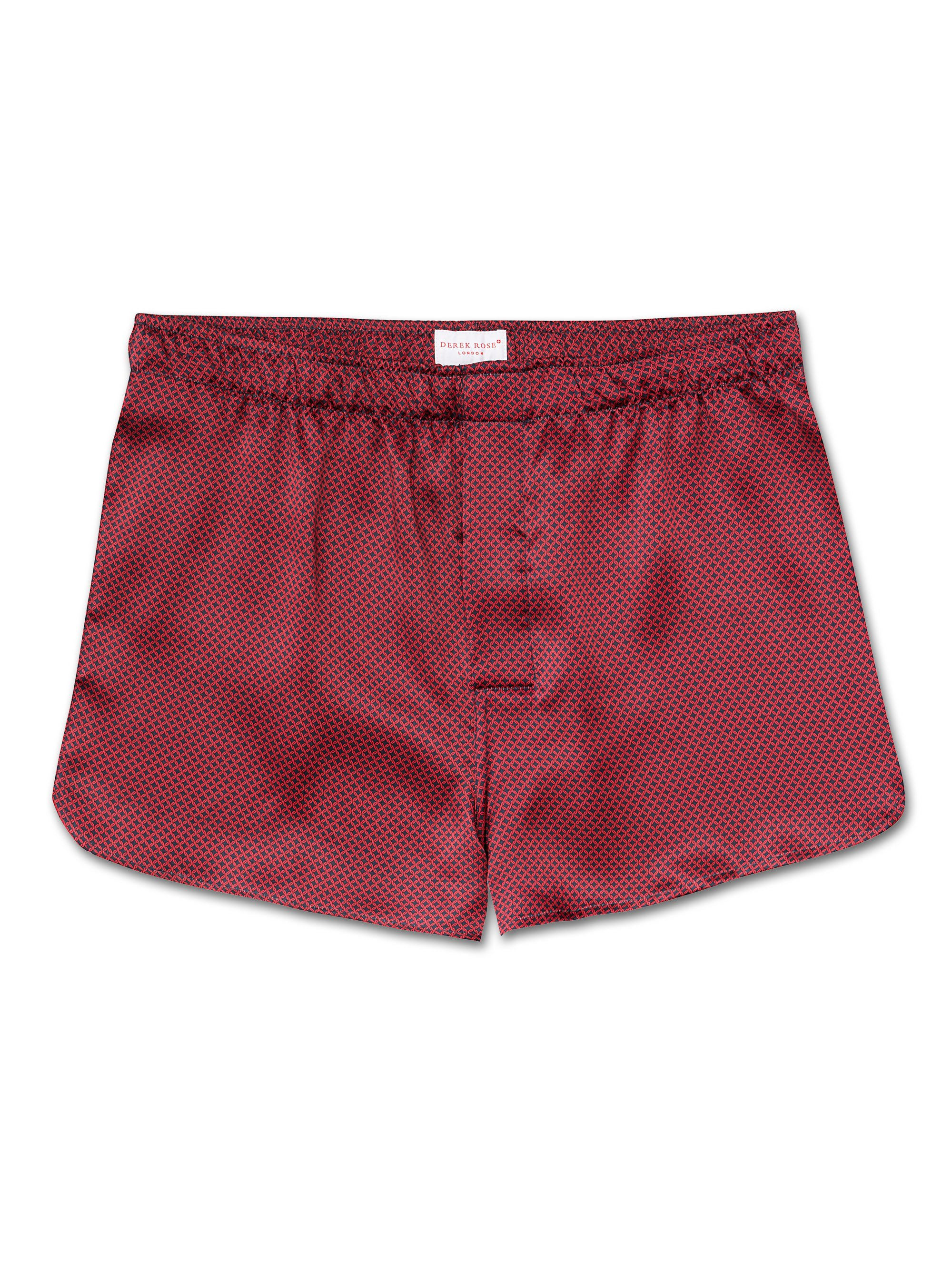 Men's Modern Fit Boxer Shorts Brindisi 4 Pure Silk Red