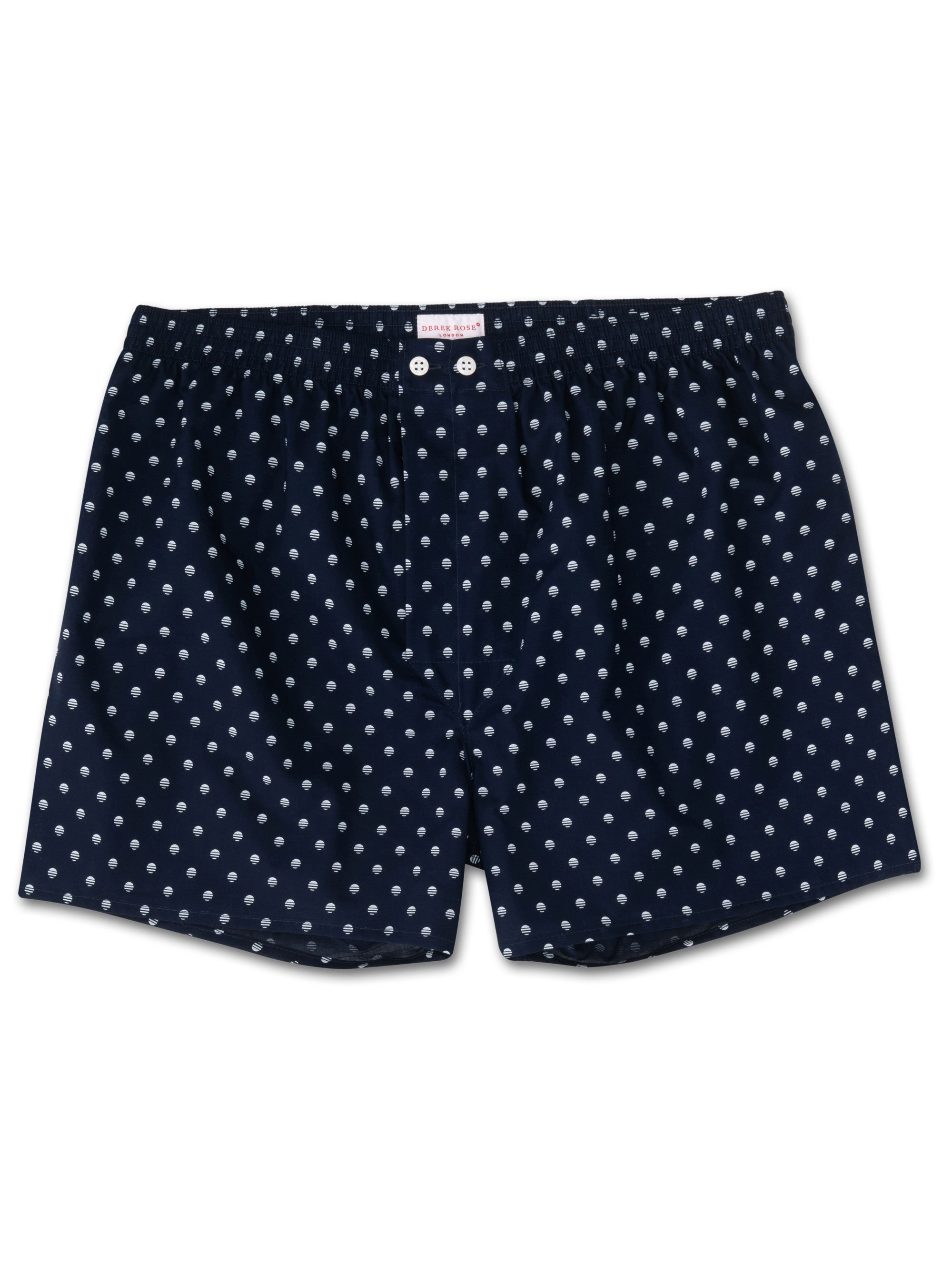 Men's Classic Fit Boxer Shorts Nelson 68 Cotton Batiste Navy