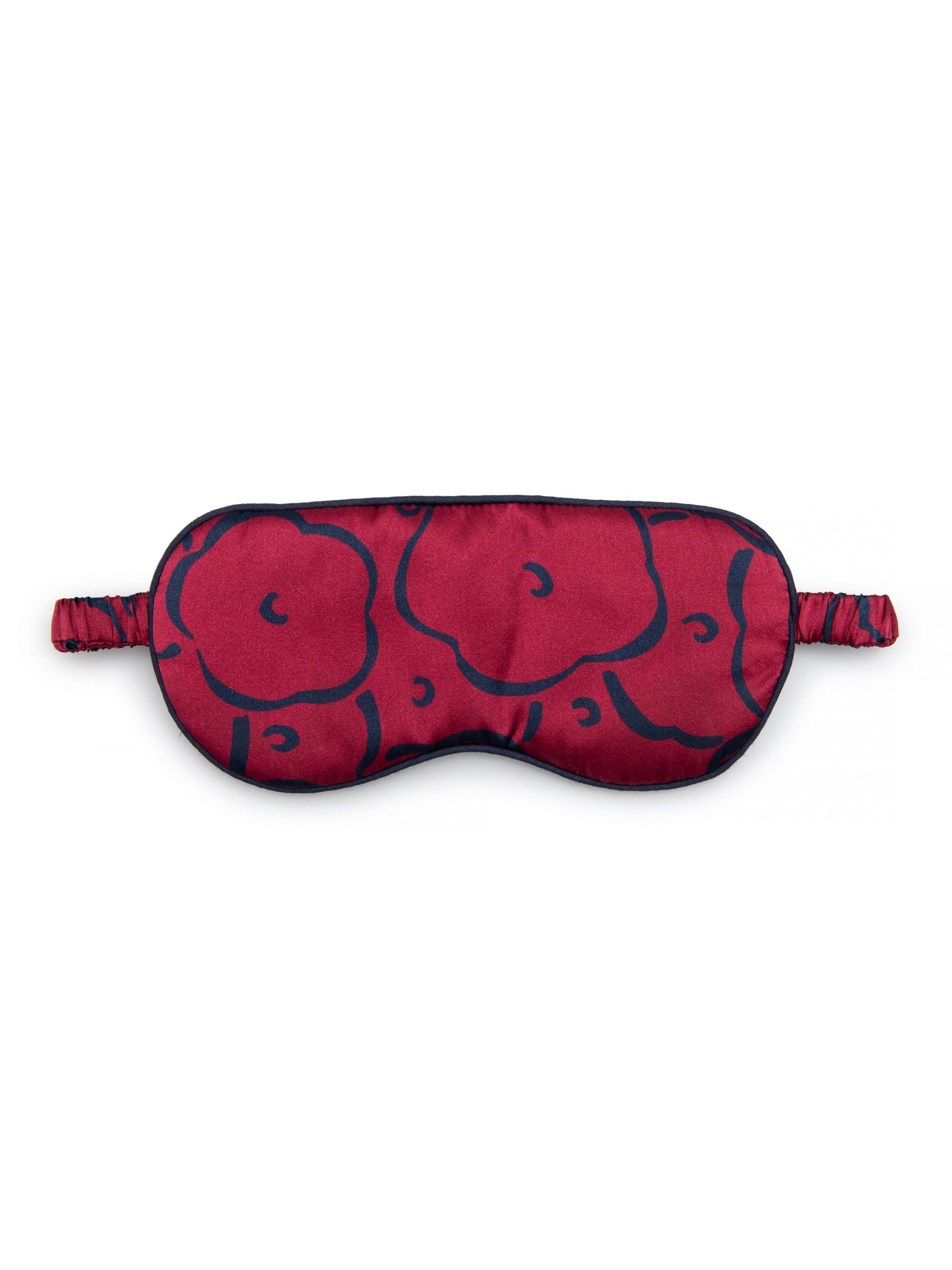 Reversible Eye Mask Brindisi 53 Pure Silk Satin Crimson