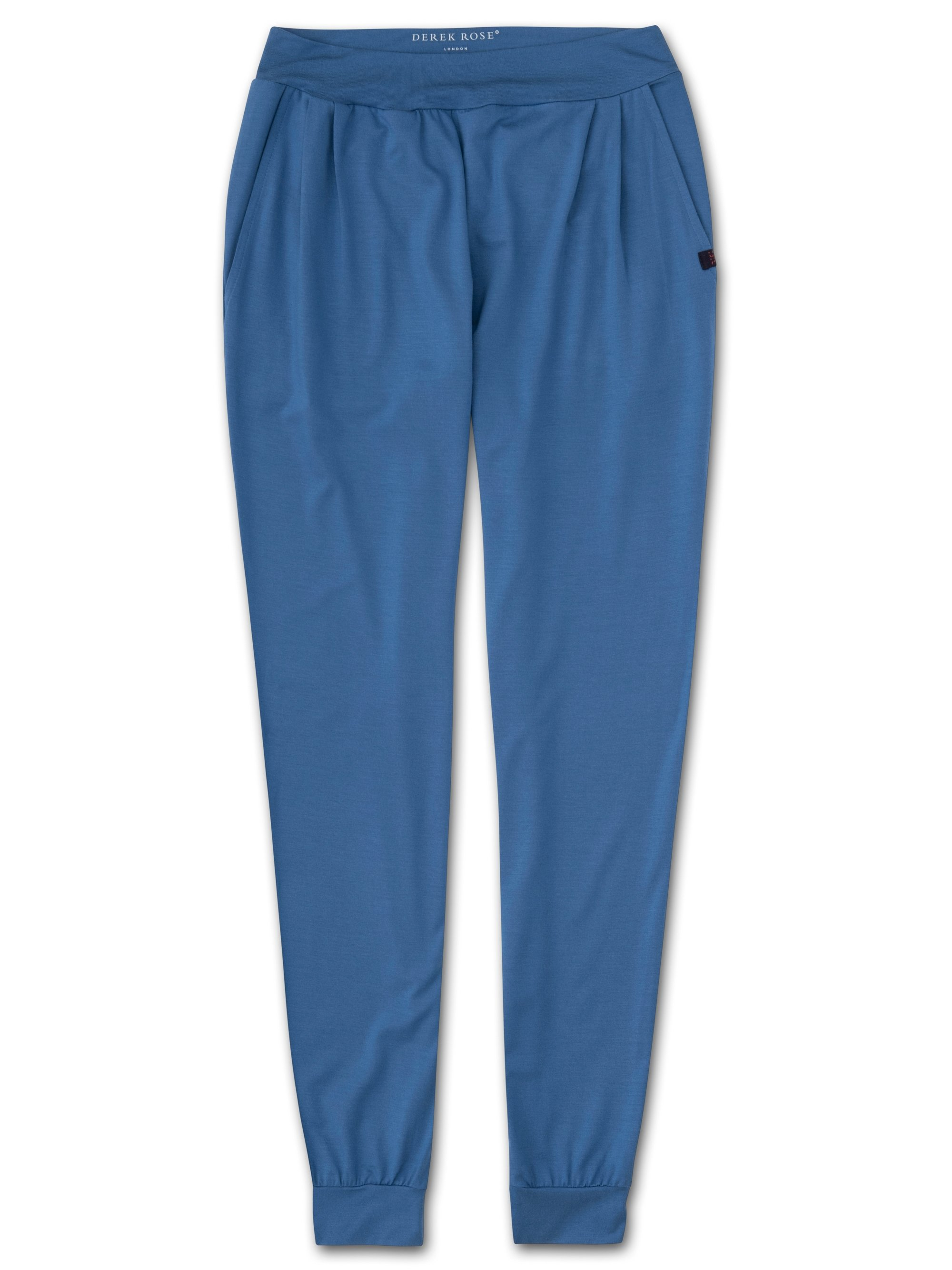 Women's Jersey Leisure Pants Basel 9 Micro Modal Stretch Blue