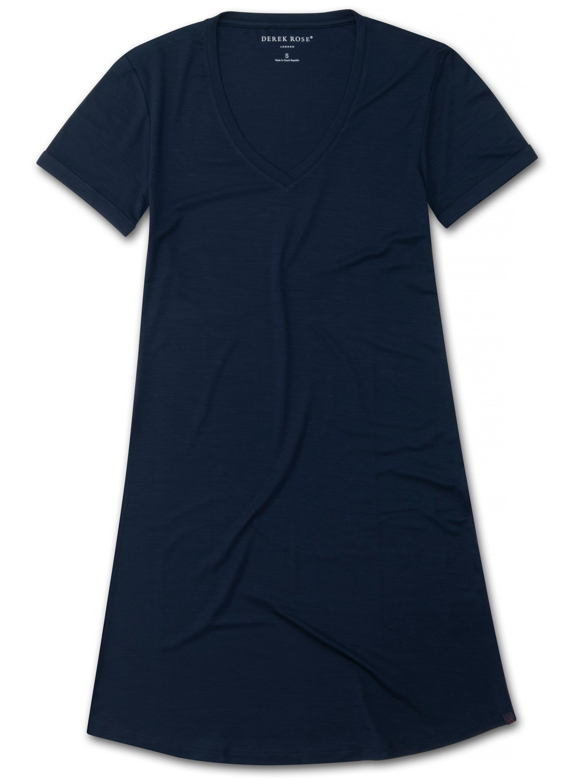 Women's V-Neck Sleep T-Shirt Lara Micro Modal Stretch Navy