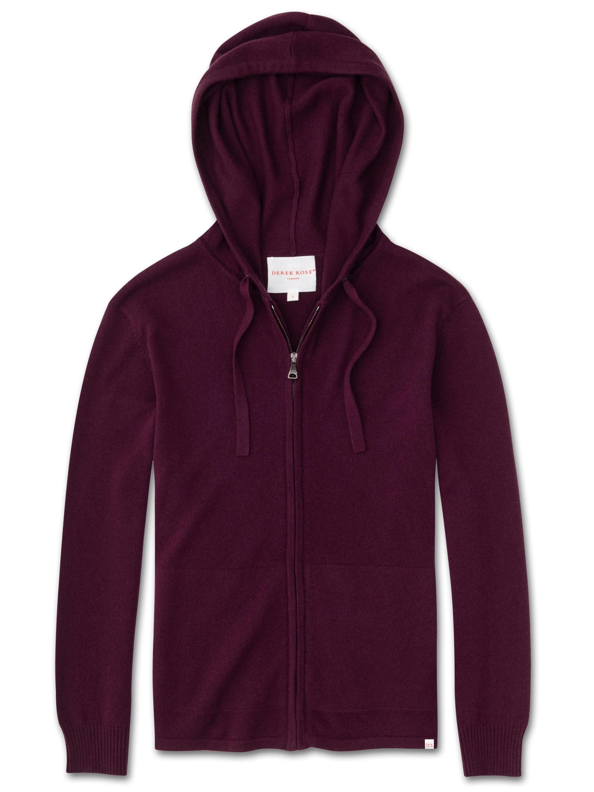 Women's Cashmere Hoodie Finley Pure Cashmere Berry