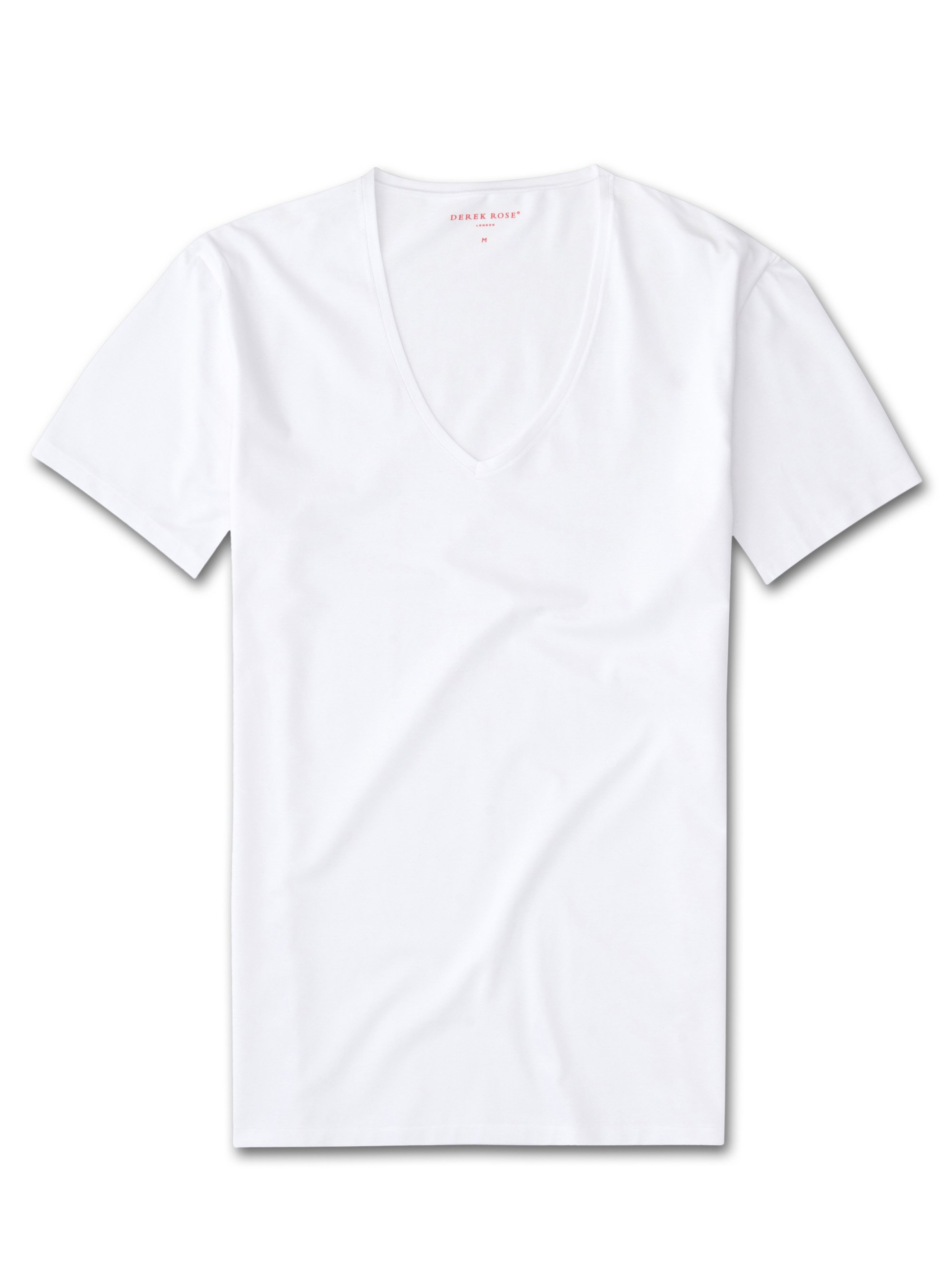Men's Underwear V-Neck T-Shirt Jack Pima Cotton Stretch White