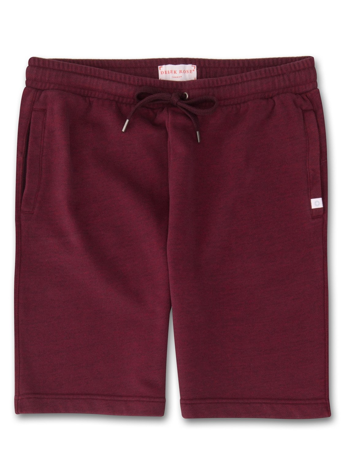 Men's Sweat Shorts Devon Loopback Cotton Burgundy