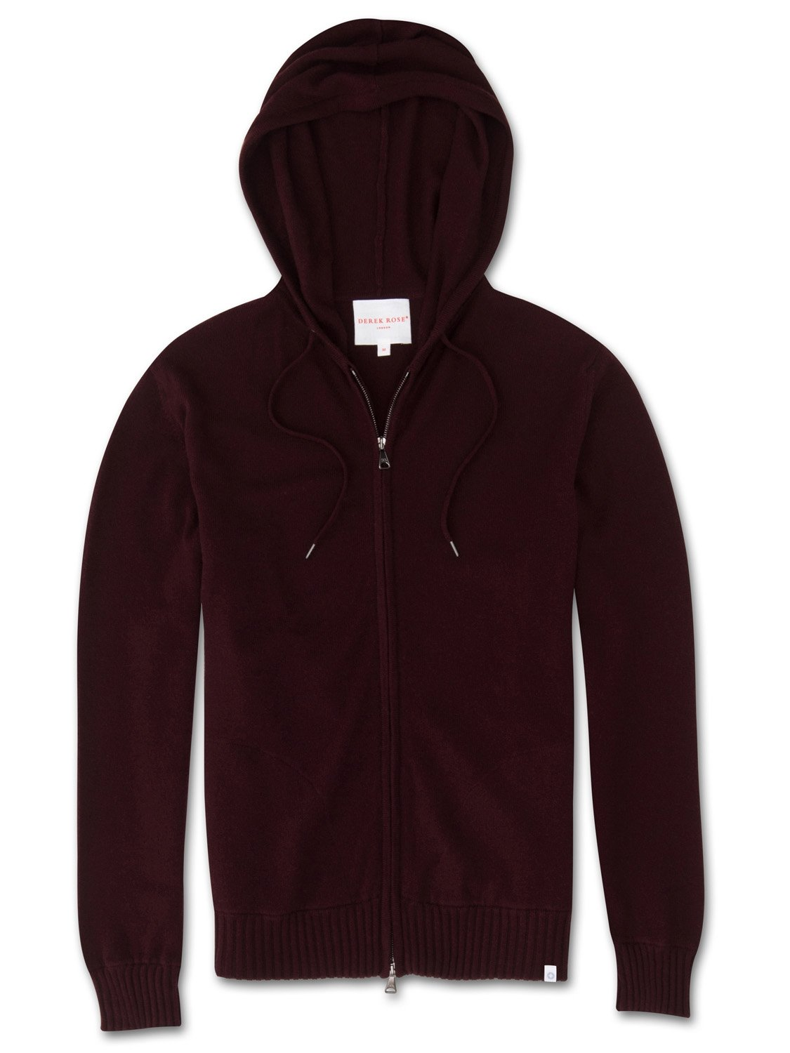Men's Cashmere Hoodie Finley Pure Cashmere Burgundy