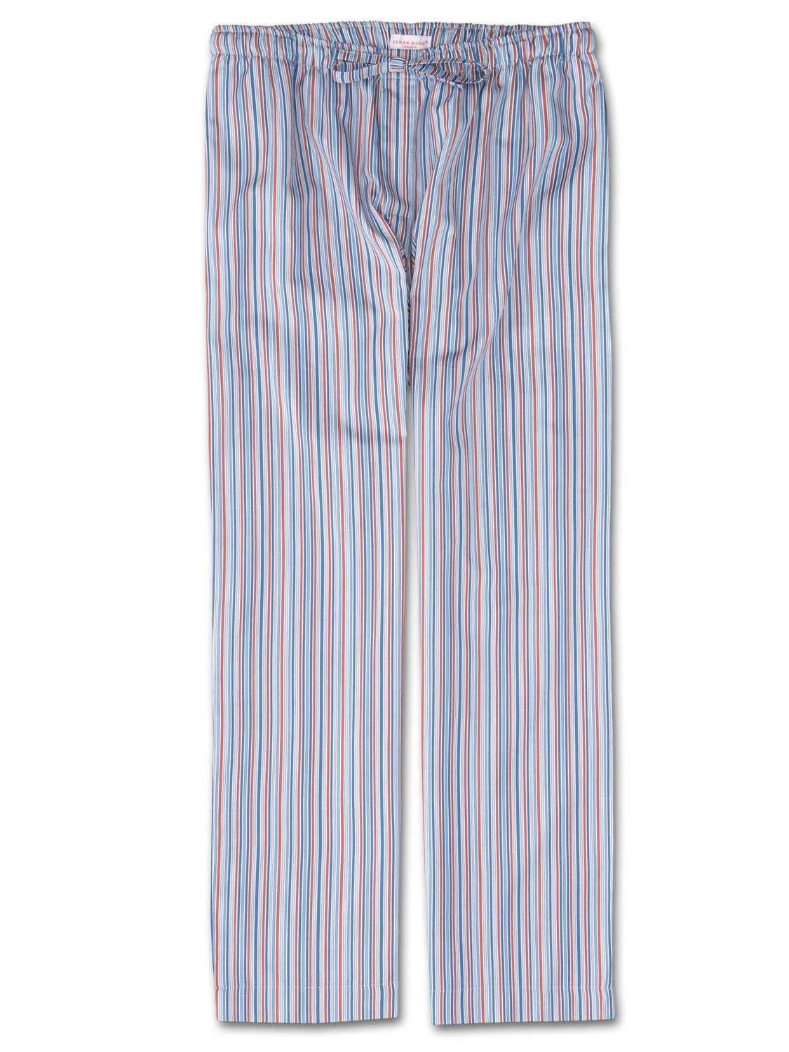 Men's Lounge Trousers Wellington 47 Cotton Full Satin Blue