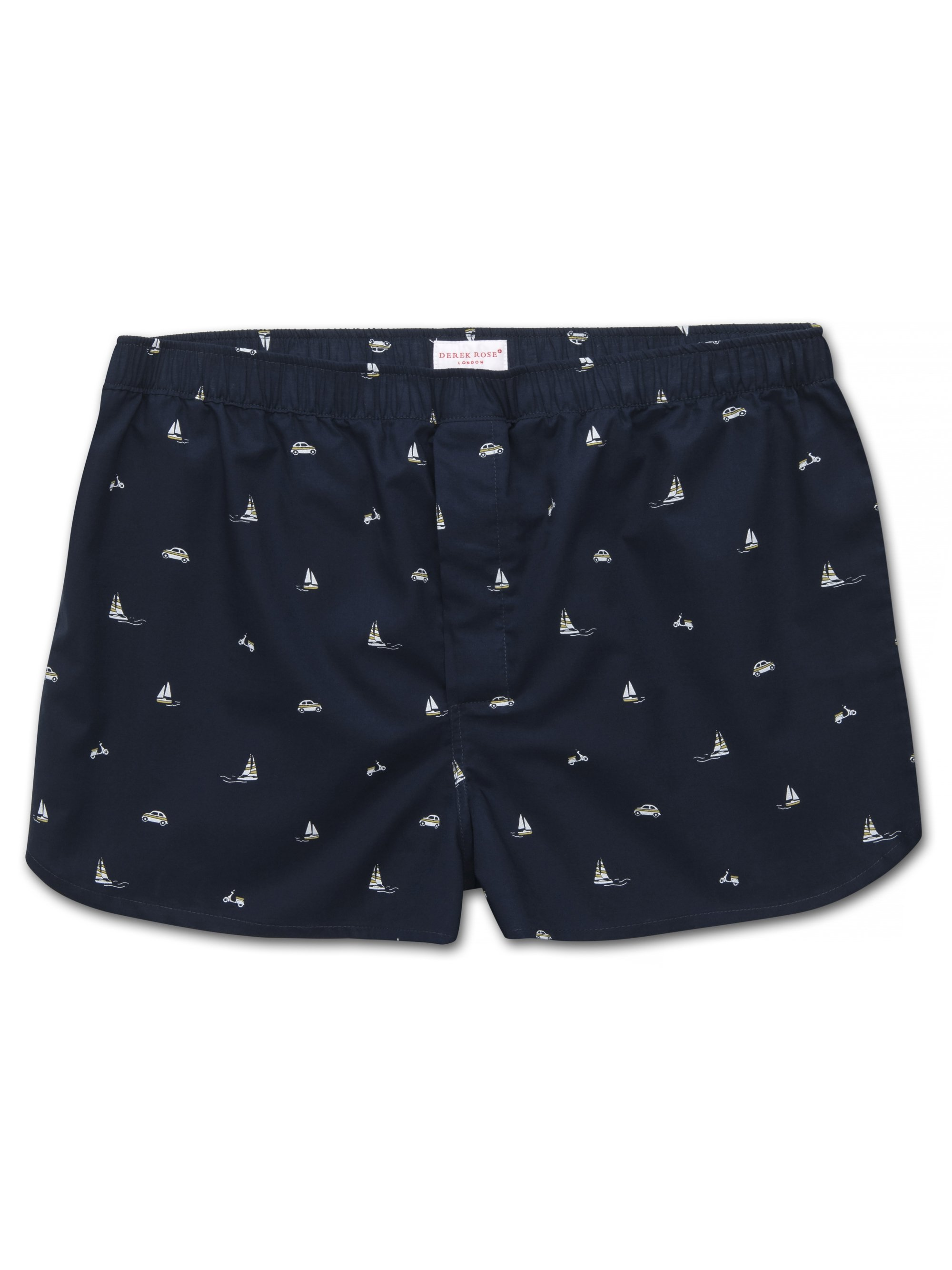 Men's Modern Fit Boxer Shorts Nelson 73 Cotton Batiste Navy