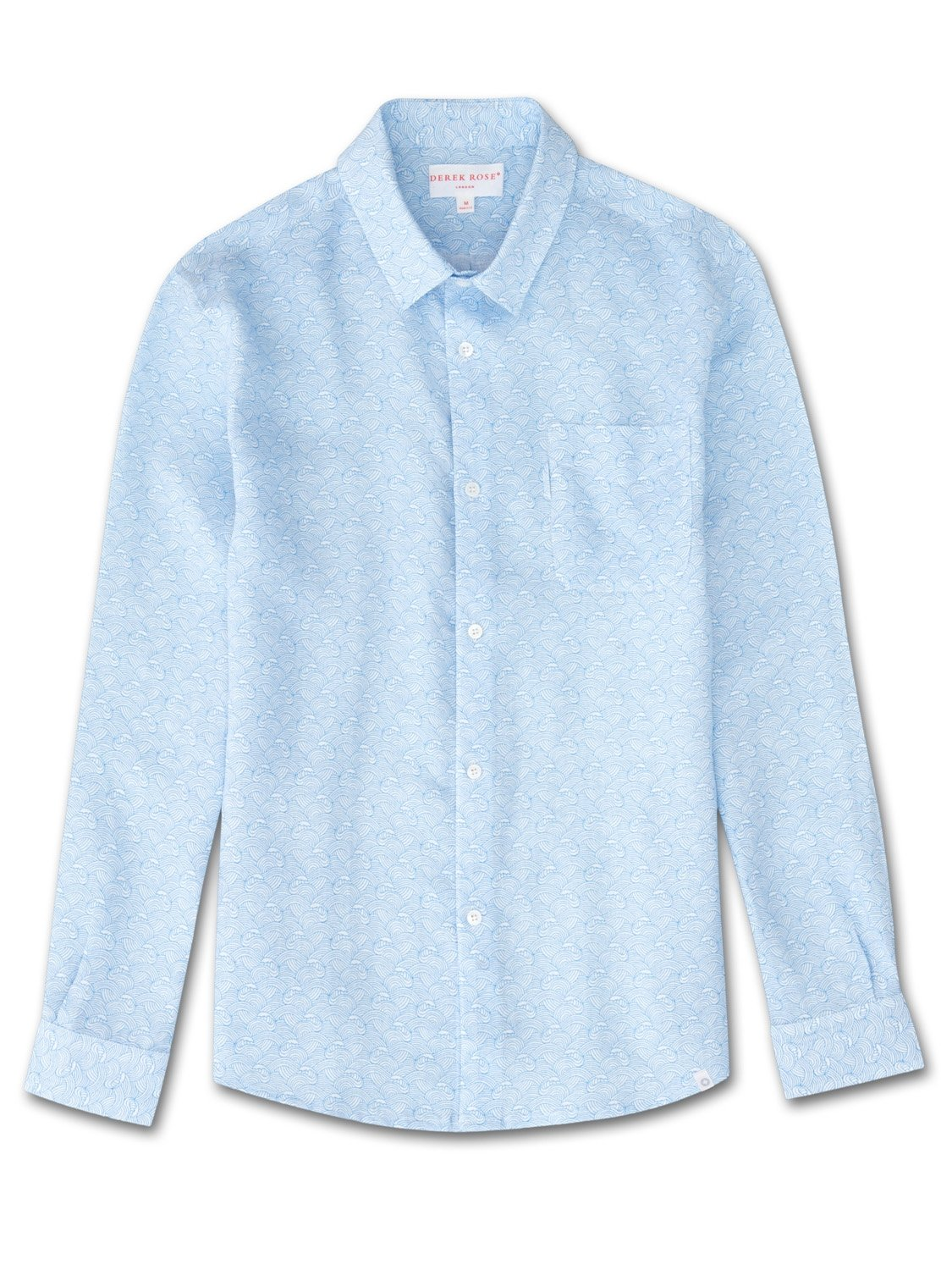 Men's Linen Shirt Milan 2 Linen Blue