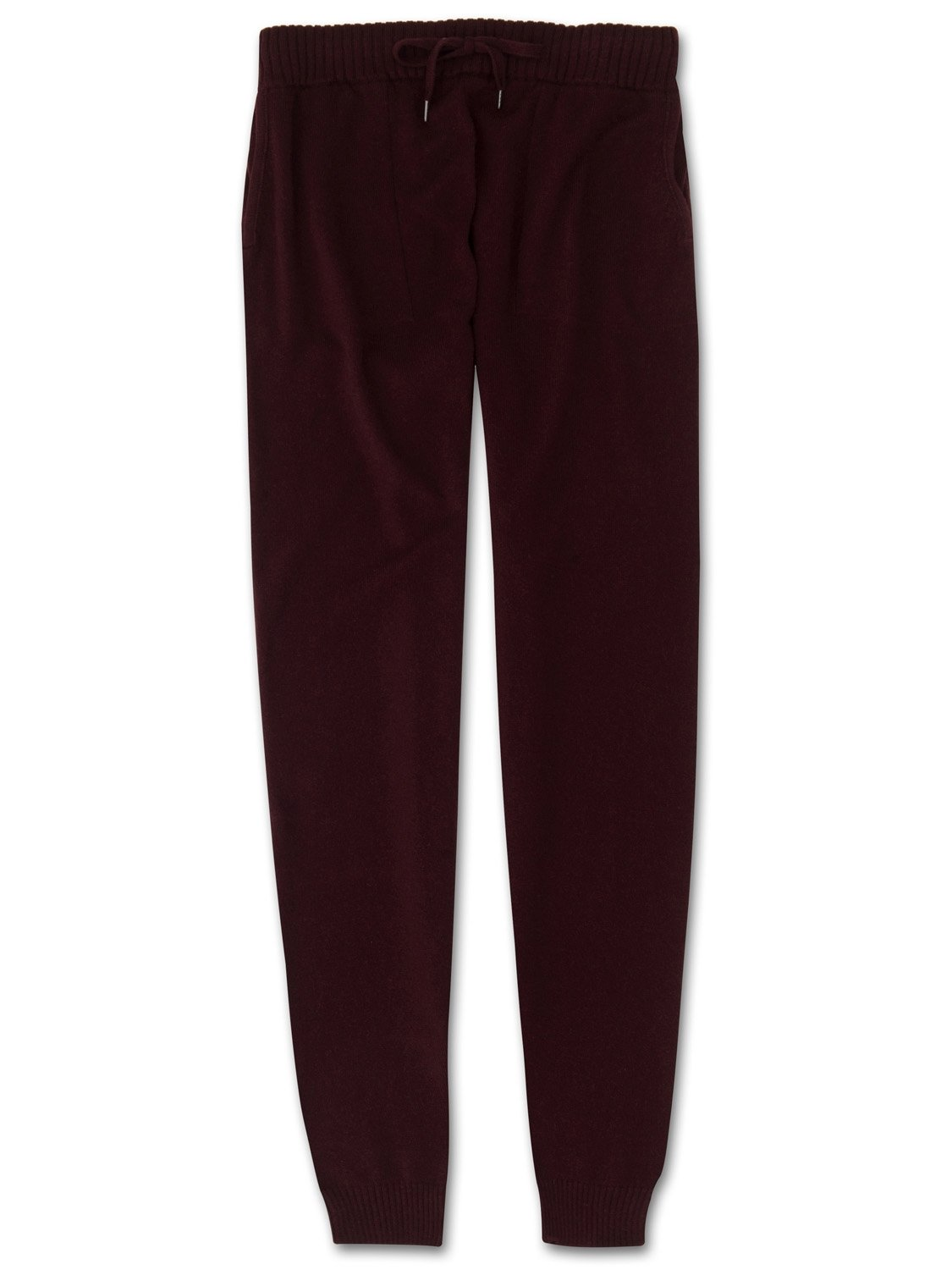Women's Cashmere Track Pants Finley Pure Cashmere Burgundy