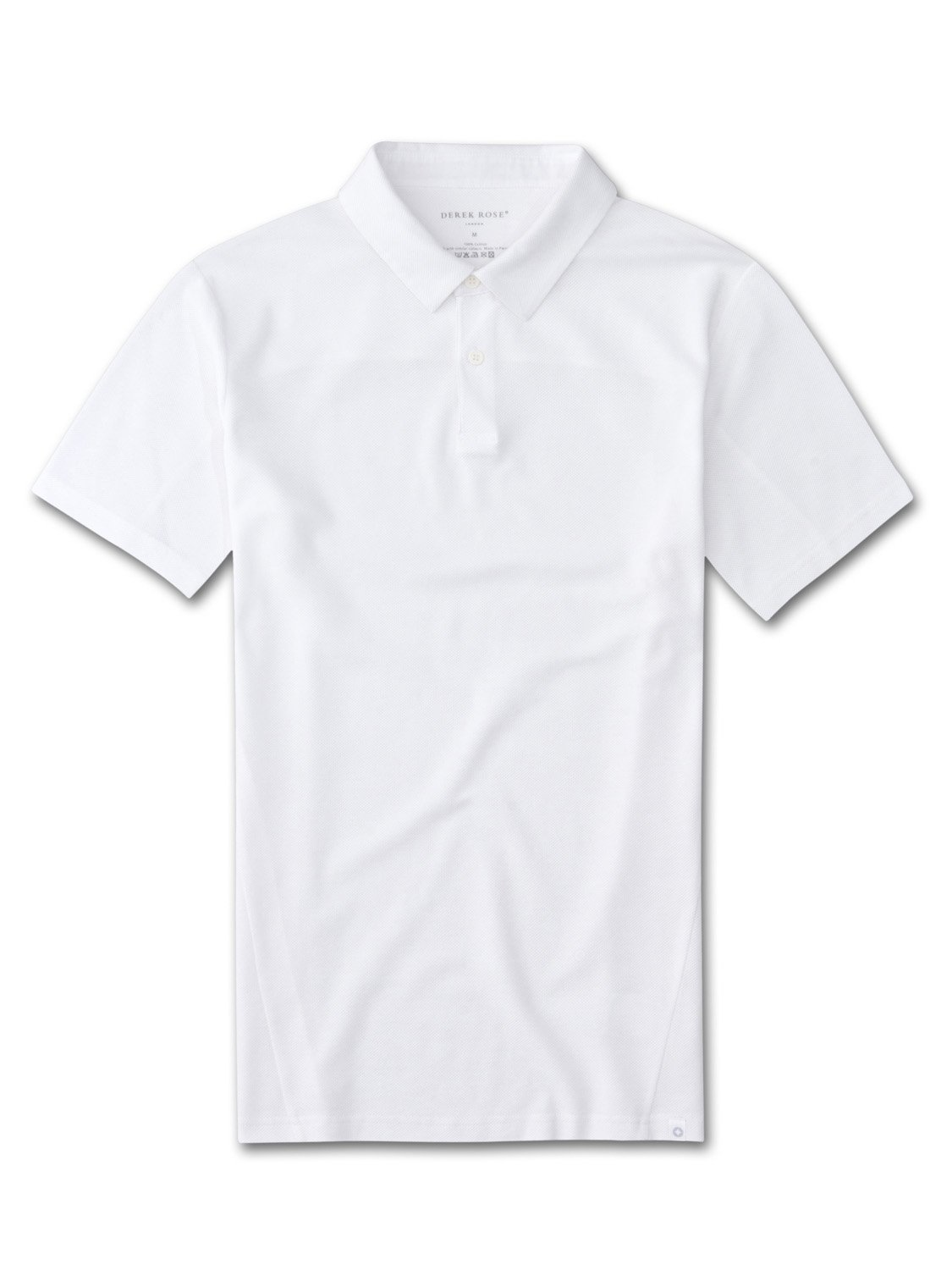 Men's Short Sleeve Polo Shirt Roland 2 Pique Cotton White