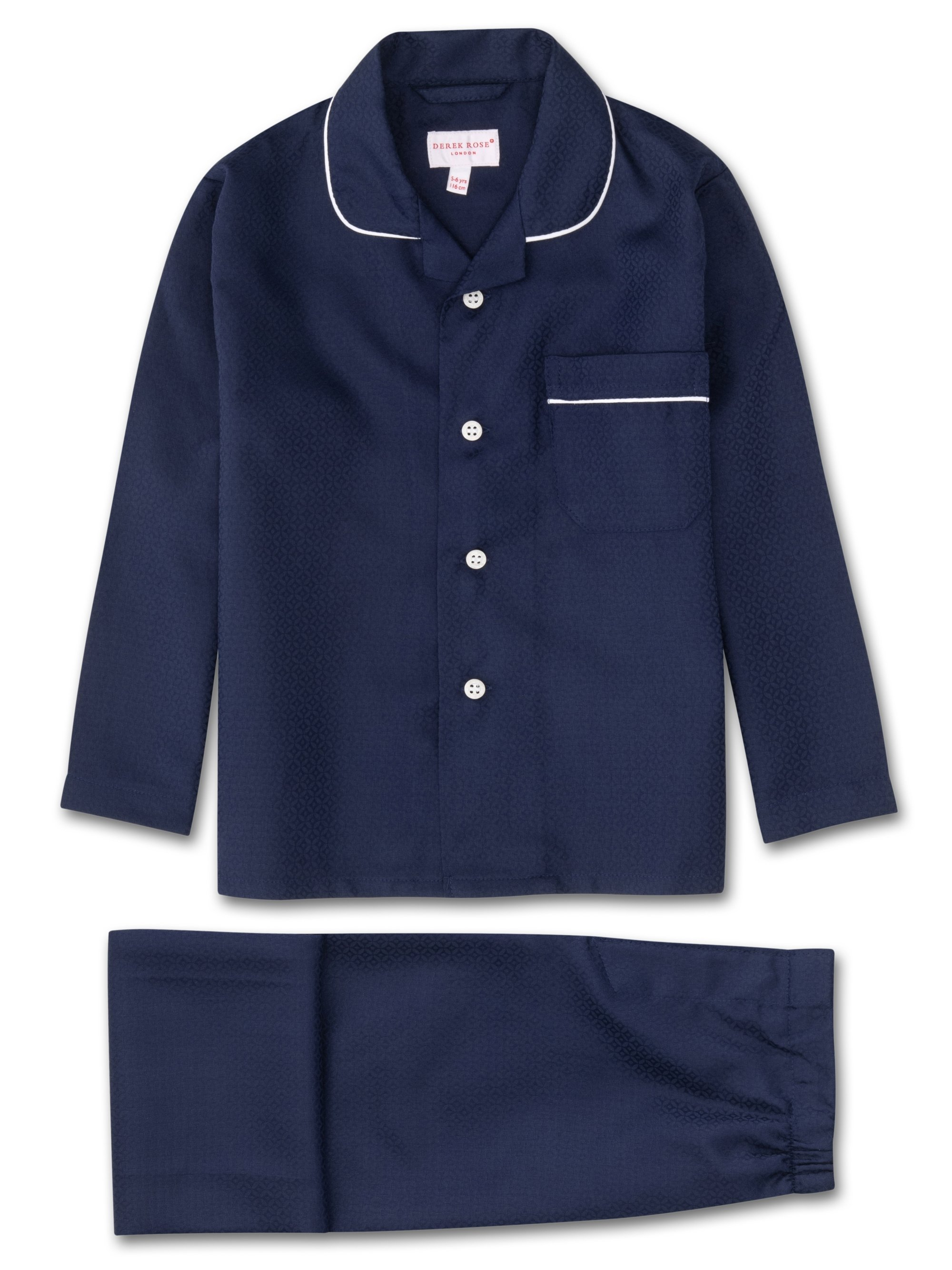 Kids' Pyjamas Lombard 6 Cotton Jacquard Navy