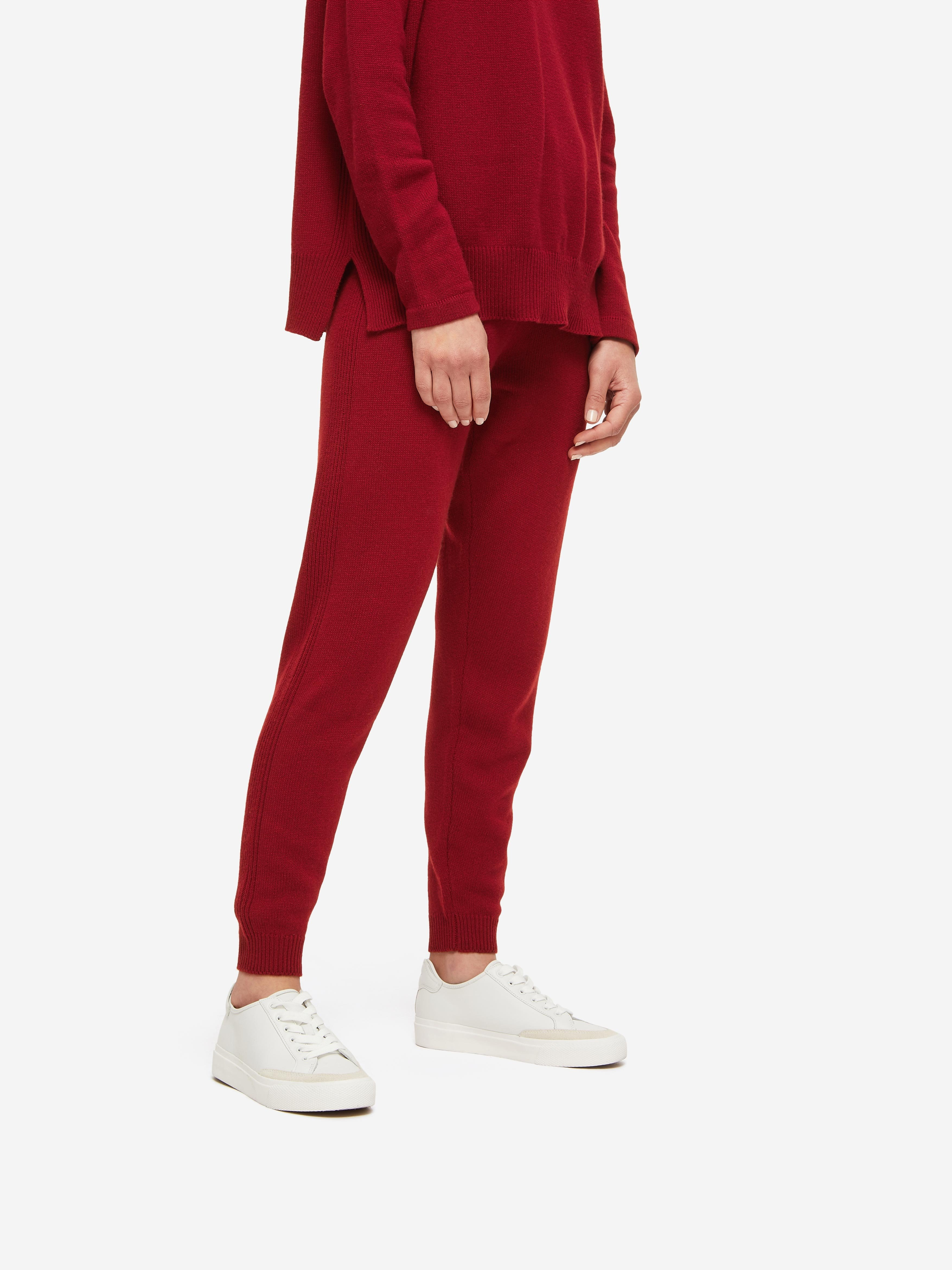 Women's Track Pants Daphne Cashmere Red