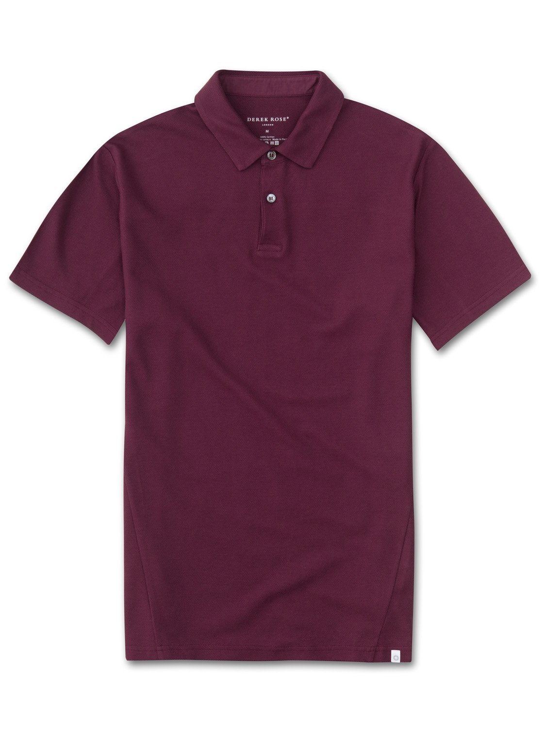 Men's Short Sleeve Polo Shirt Roland 2 Pique Cotton Burgundy