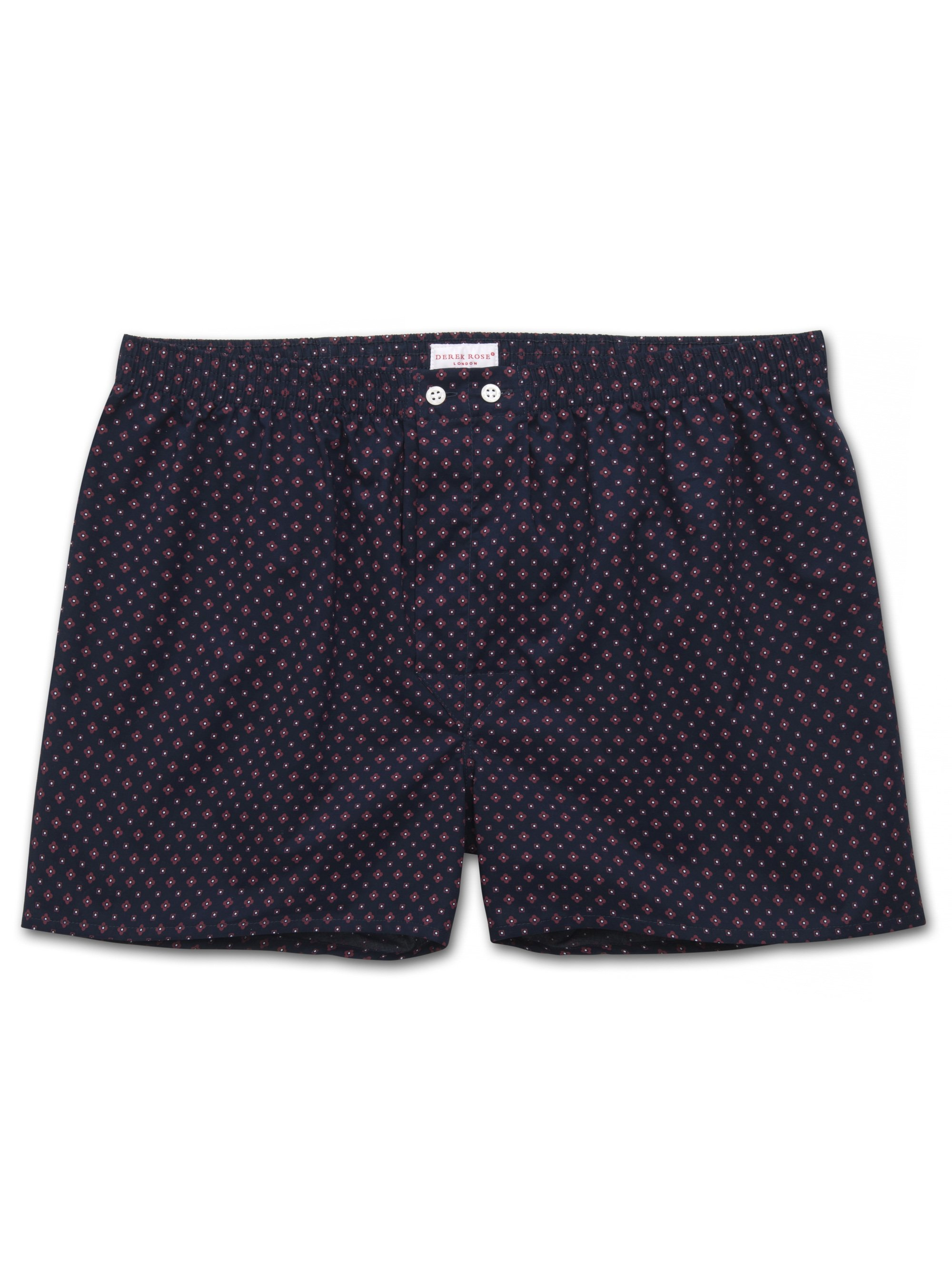 Men's Classic Fit Boxer Shorts Nelson 72 Cotton Batiste Navy