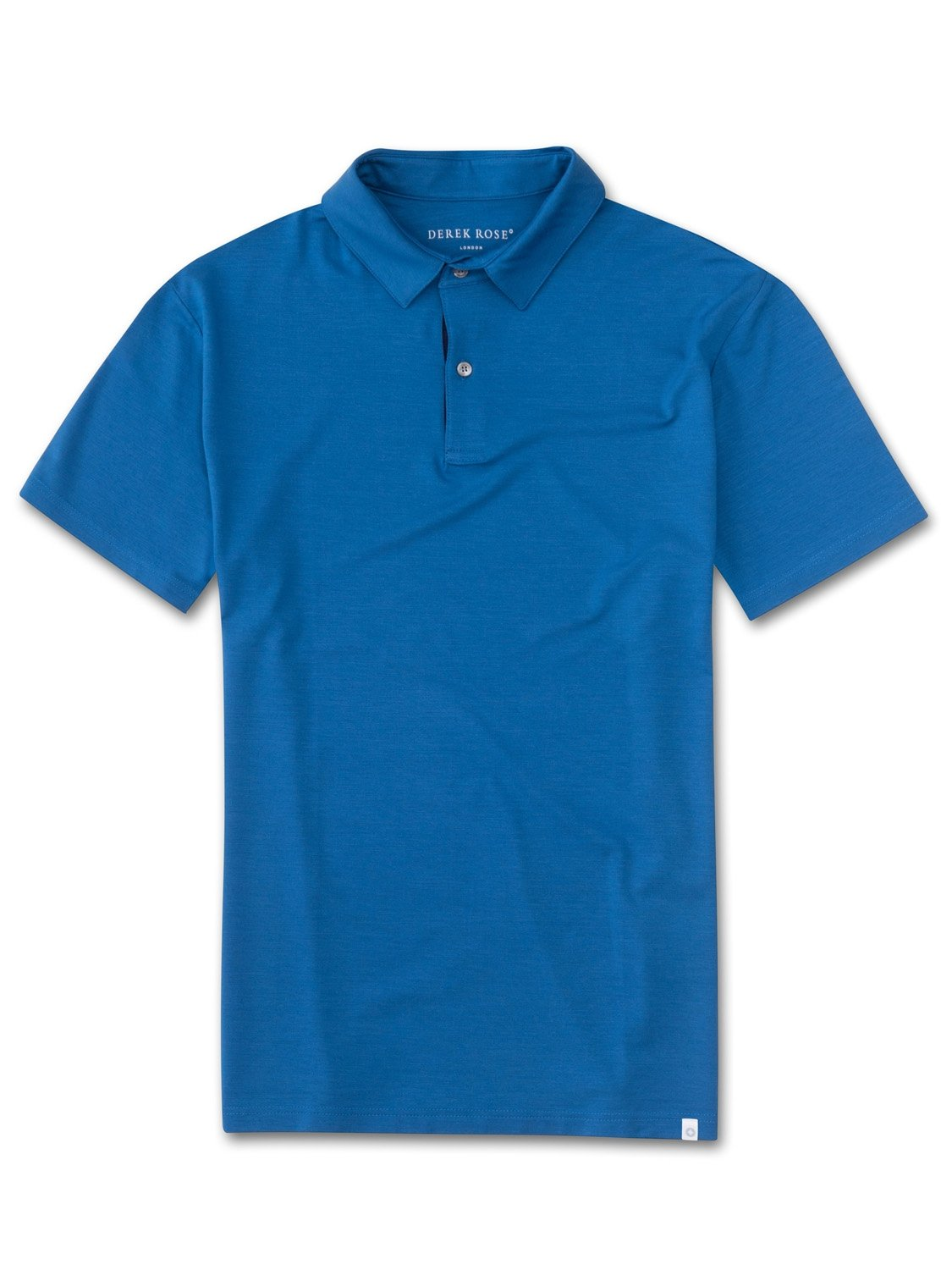 Men's Short Sleeve Polo Shirt Basel 5 Micro Modal Stretch Blue