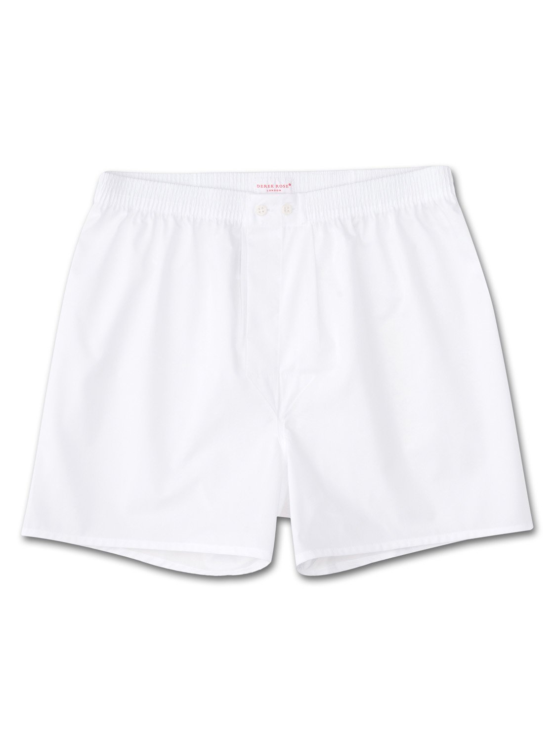 Men's Classic Fit Boxer Shorts Savoy Pure Cotton Poplin White